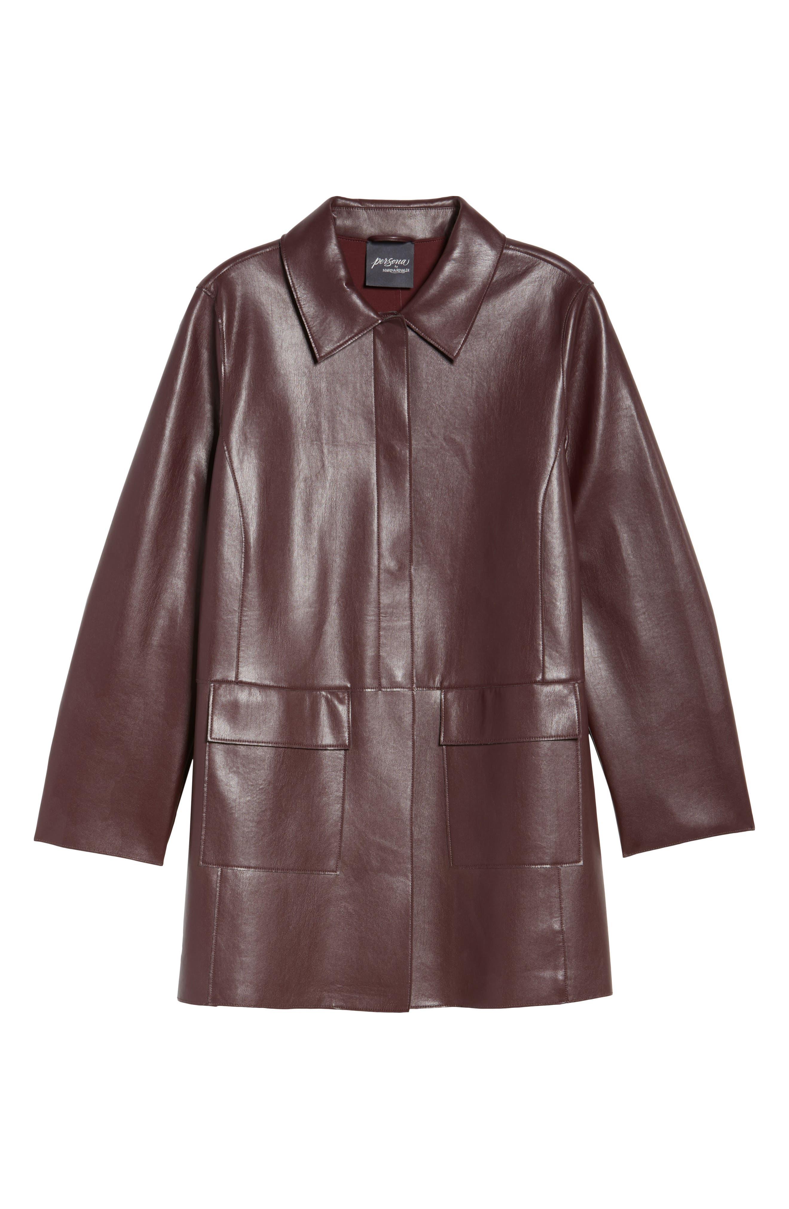 Alternate Image 6  - Persona by Marina Rinaldi Narrare Faux Leather Coat (Plus Size)