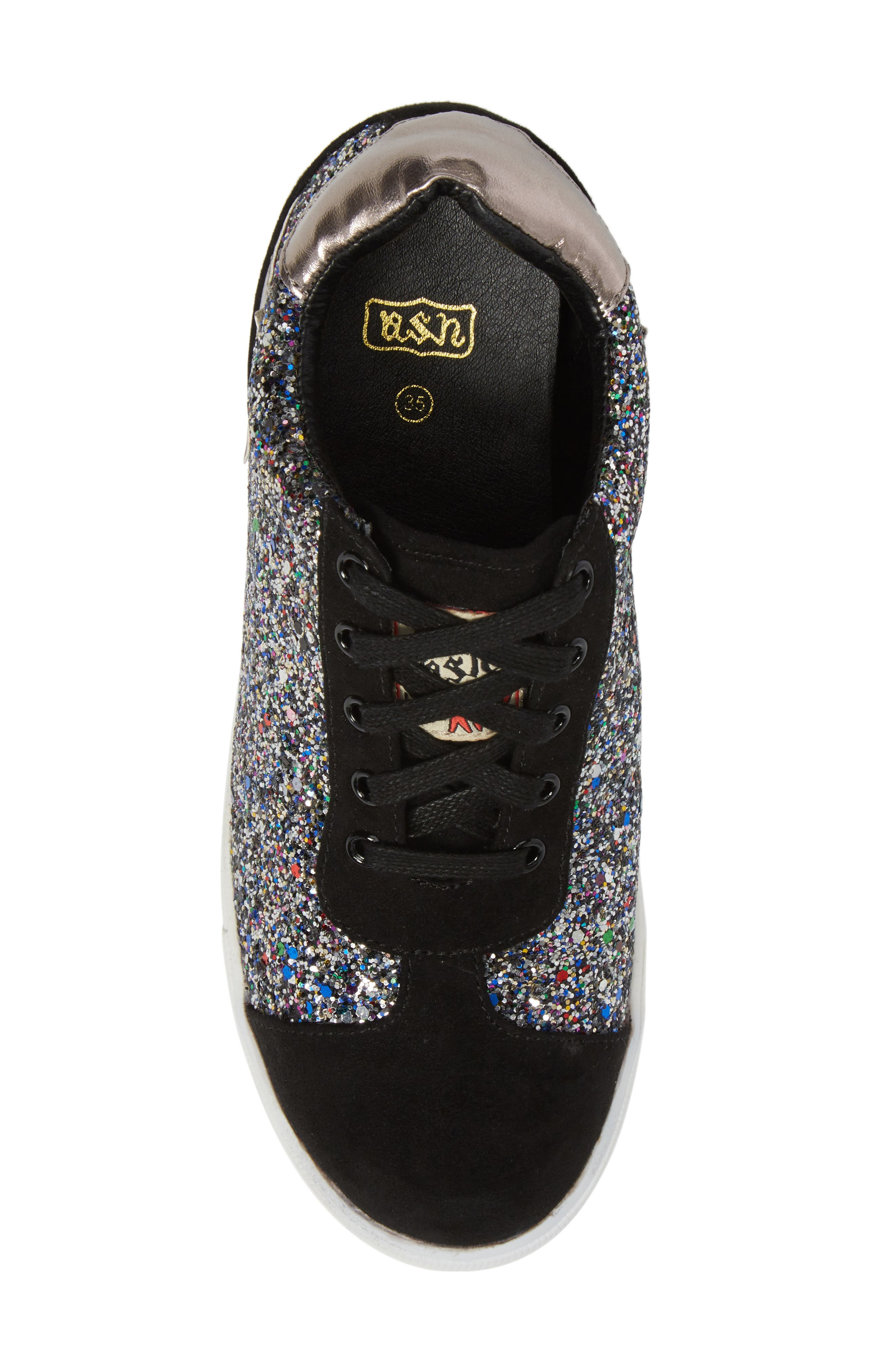 Alternate Image 5  - Ash Low Star Glittery Concealed Wedge Sneaker (Toddler, Little Kid & Big Kid)