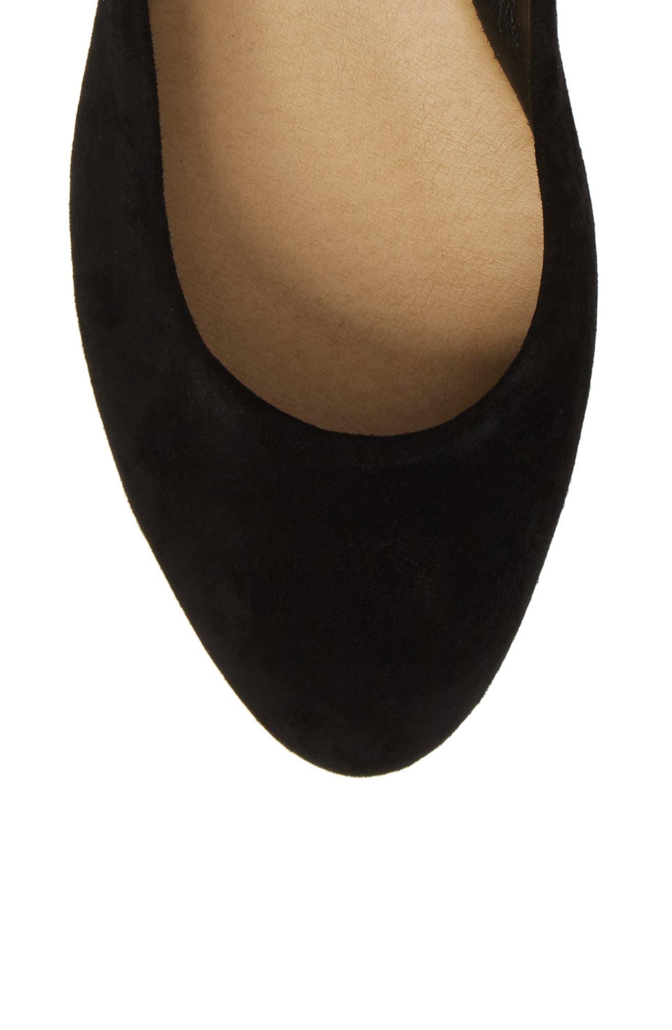 Renee Ankle Tie Flat,                             Alternate thumbnail 5, color,                             Black Suede