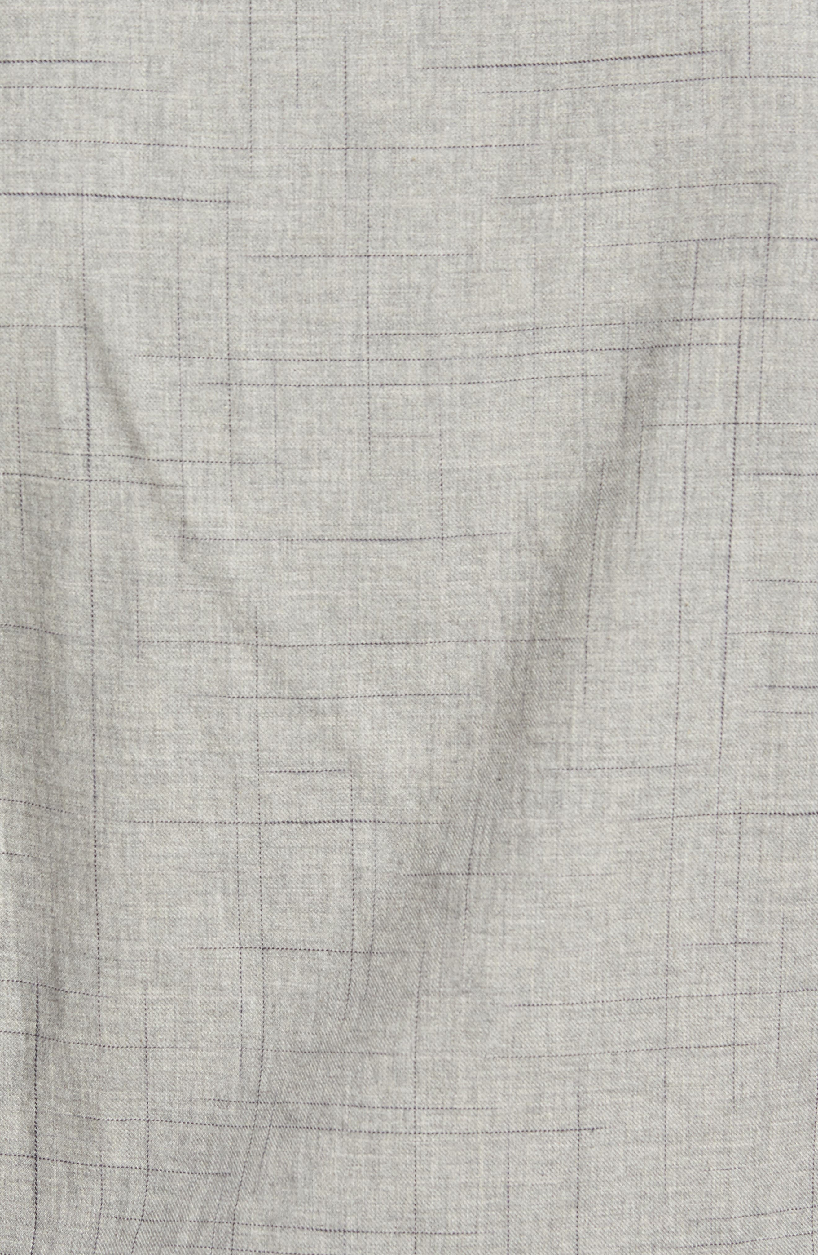 Broken Plaid Sport Shirt,                             Alternate thumbnail 5, color,                             Light Grey