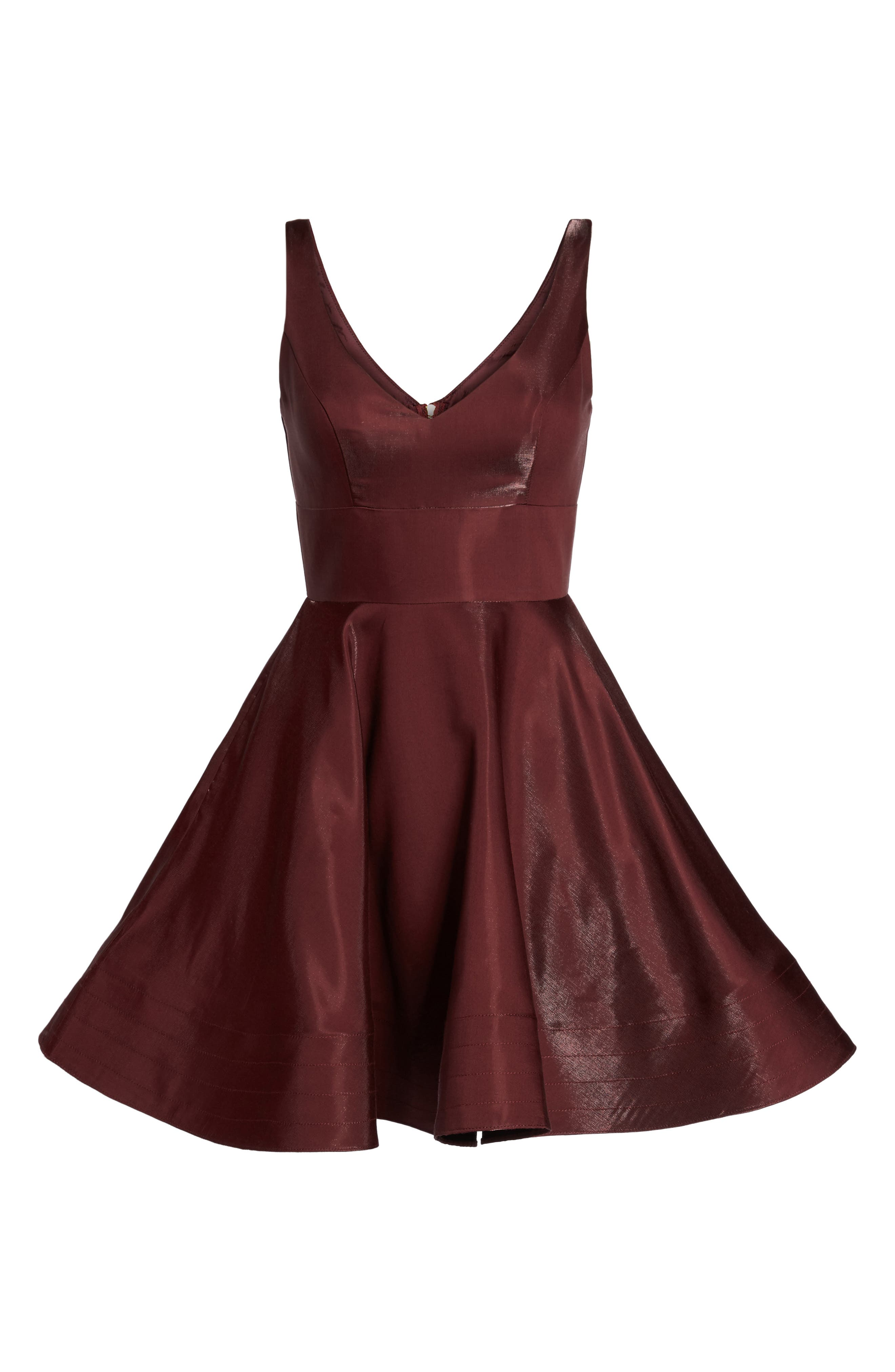 Alternate Image 6  - Xscape Shimmer Fit & Flare Dress