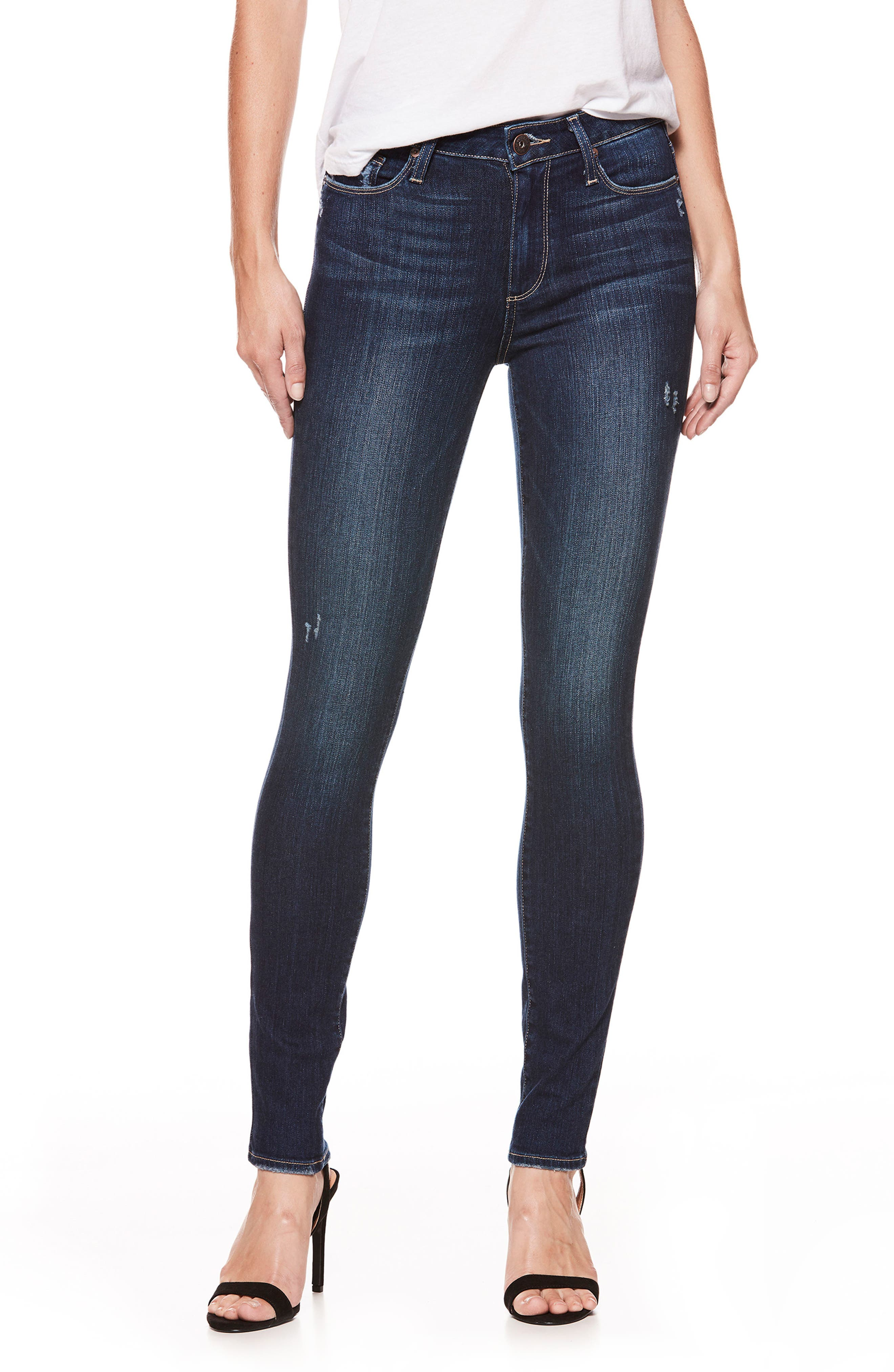 Alternate Image 1 Selected - PAIGE Hoxton High Waist Skinny Jeans (Marina)