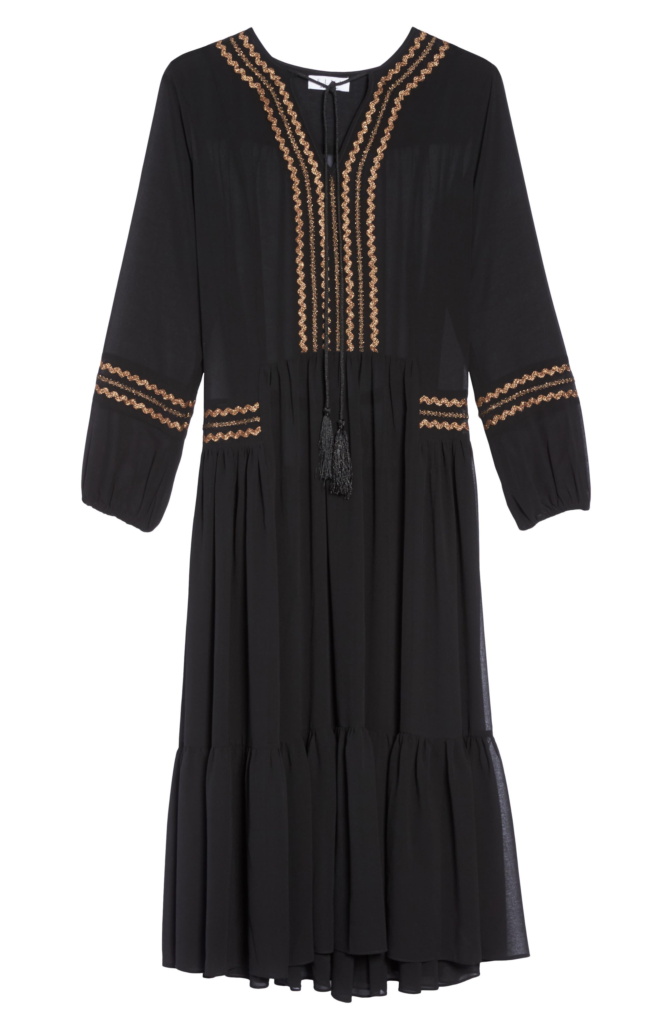 Maxi Dress,                             Alternate thumbnail 6, color,                             Black
