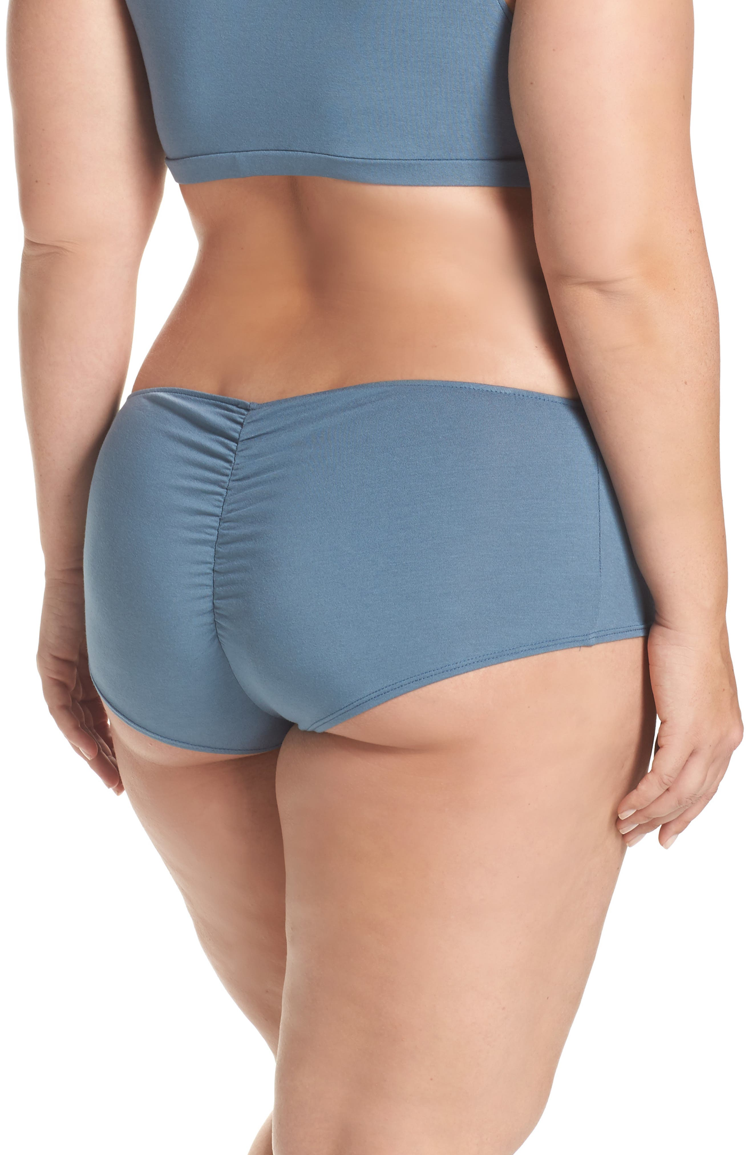 So Fine Ruched Hipster Briefs,                             Alternate thumbnail 2, color,                             Petrol