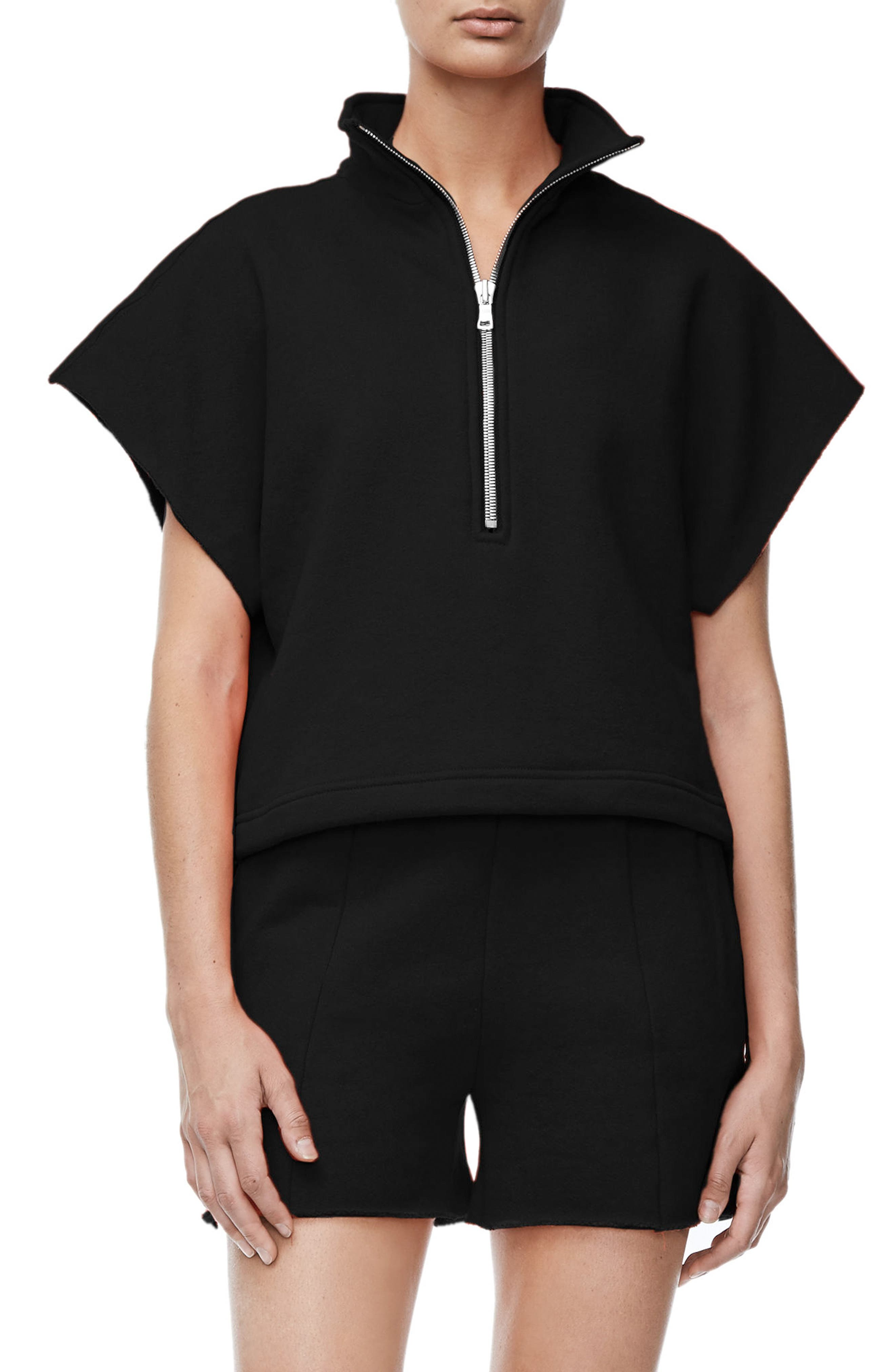Good American Good Sweats The Chunky Zip Pullover (Extended Sizes)