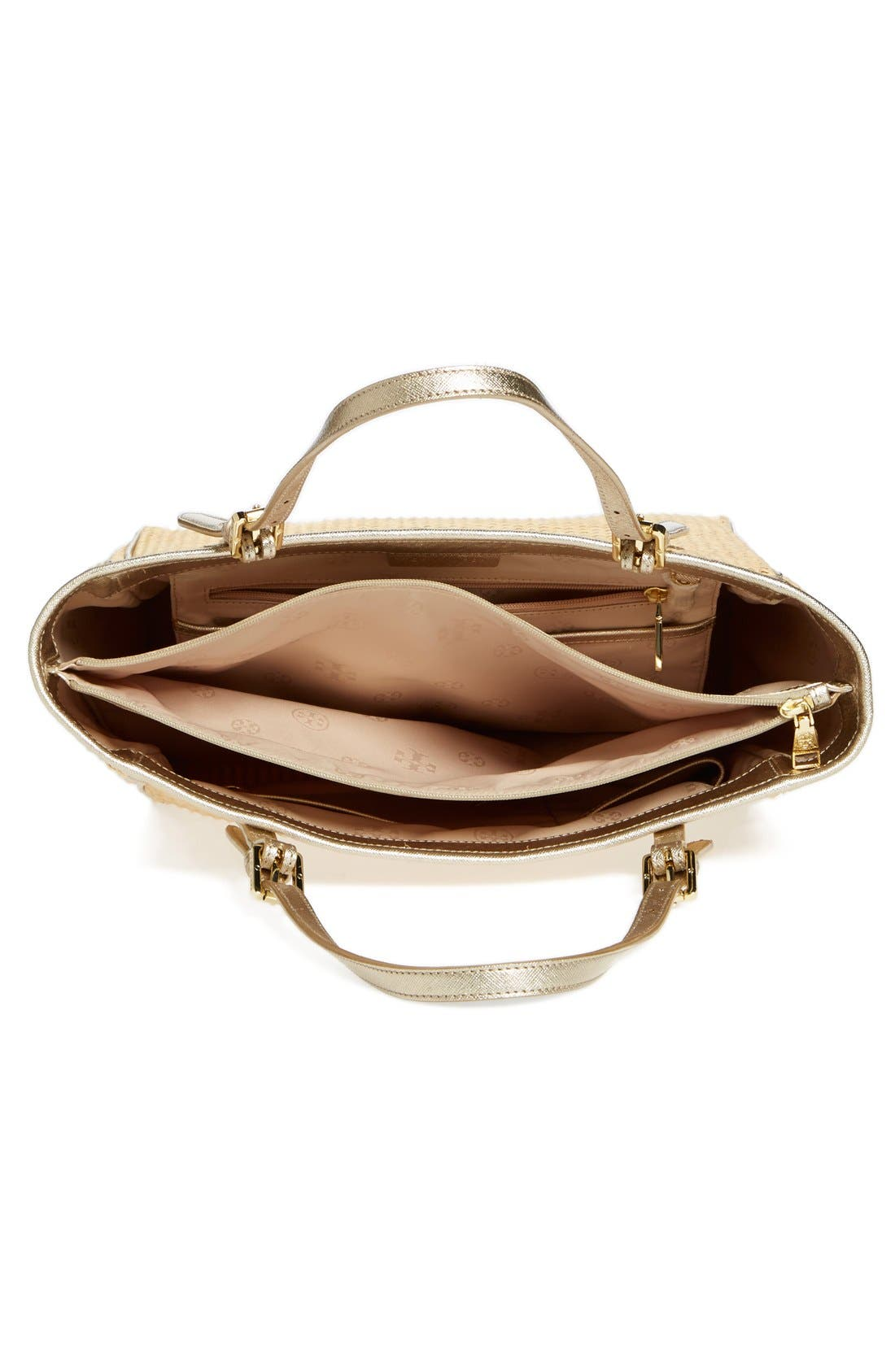 Alternate Image 4  - Tory Burch 'Small York' Straw Buckle Tote