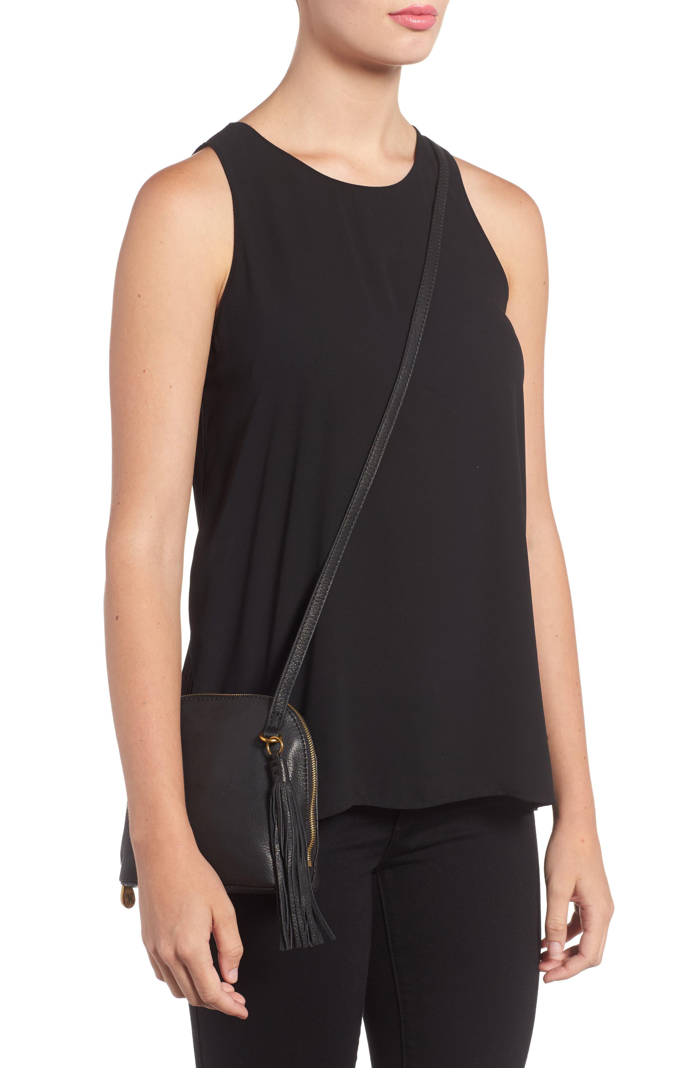 Nash Calfskin Leather Crossbody Bag,                             Alternate thumbnail 2, color,                             Black