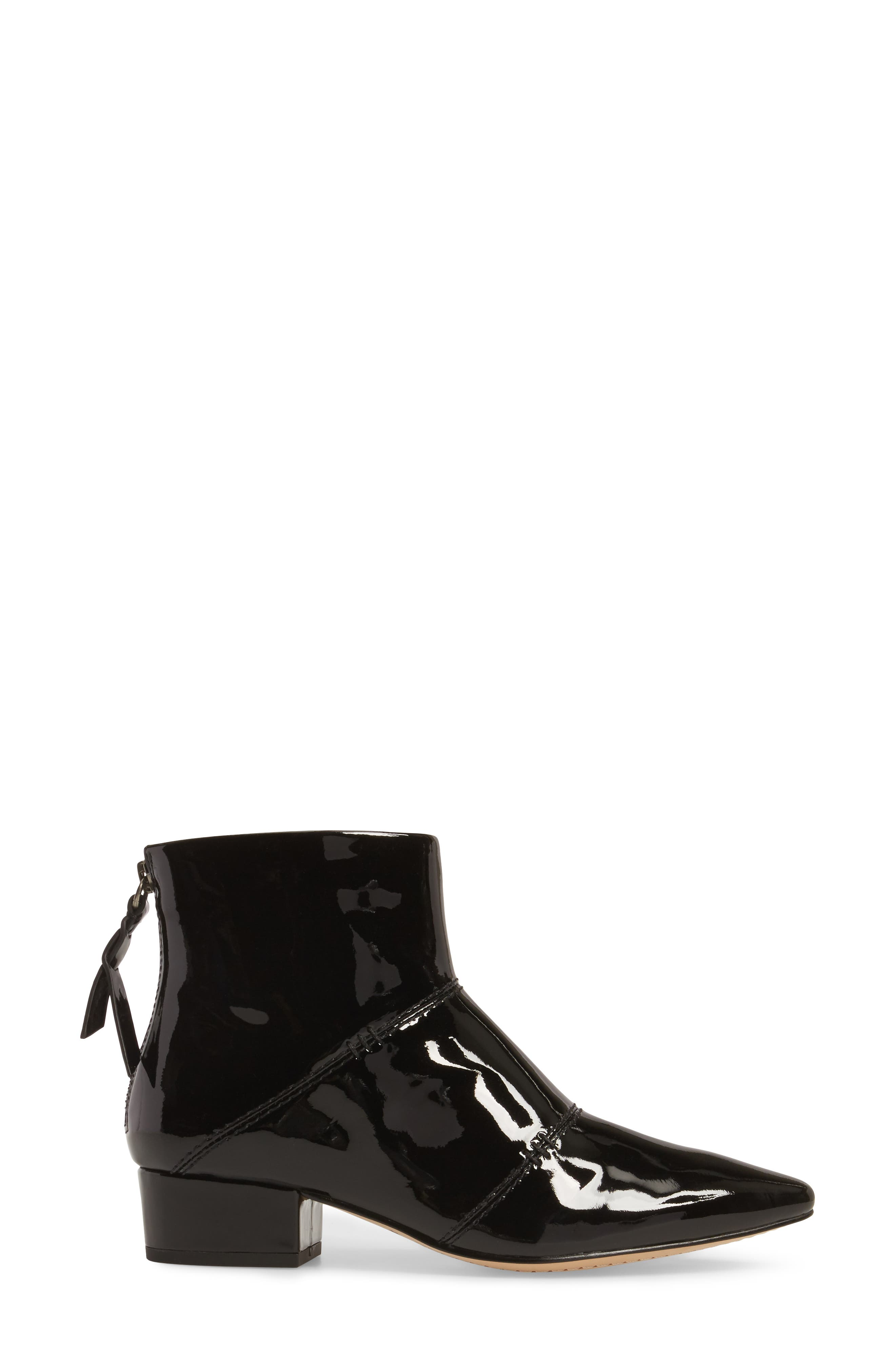 Rina Bootie,                             Alternate thumbnail 3, color,                             Black Patent