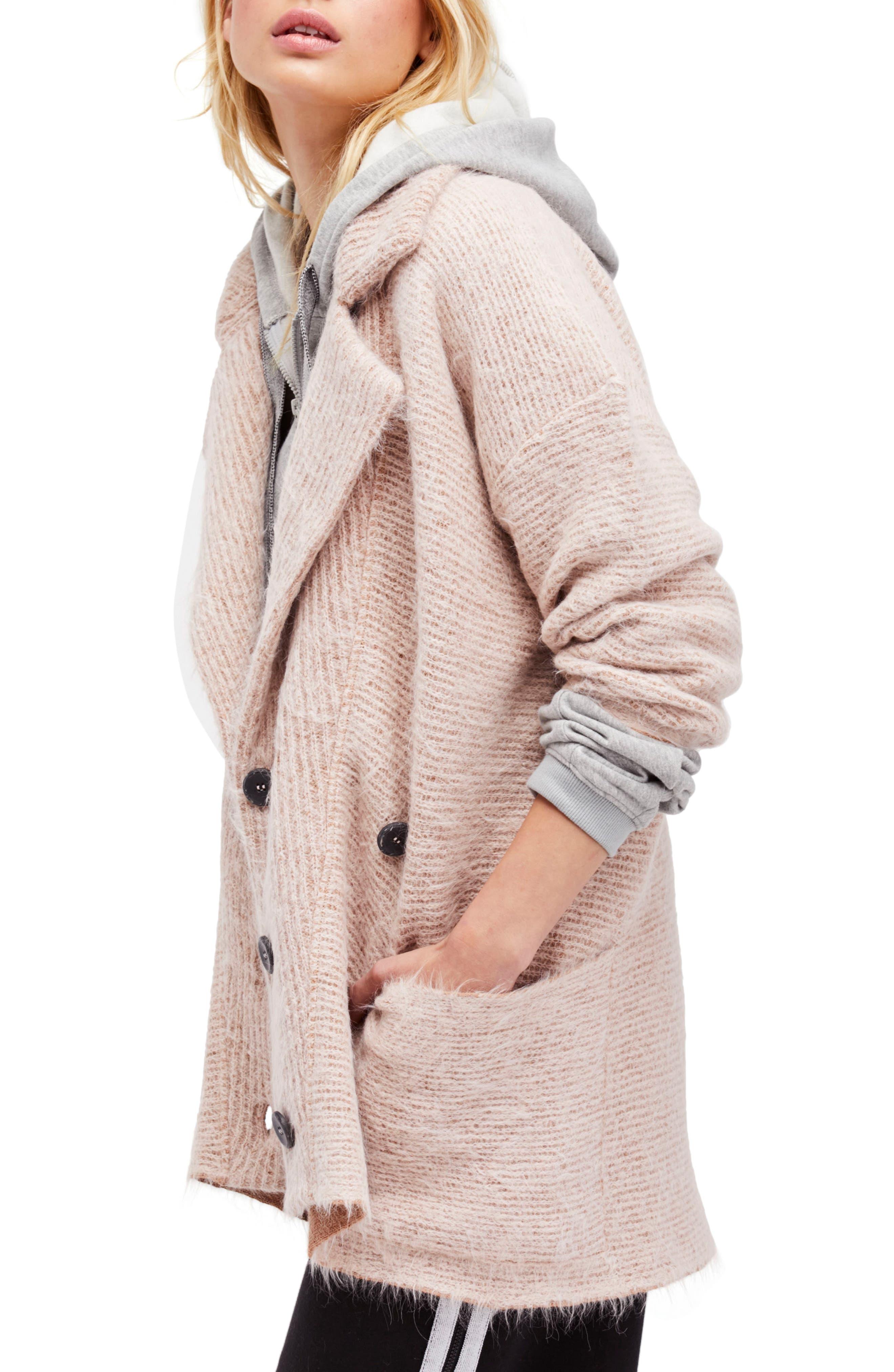 Main Image - Free People Take Two Sweater Coat