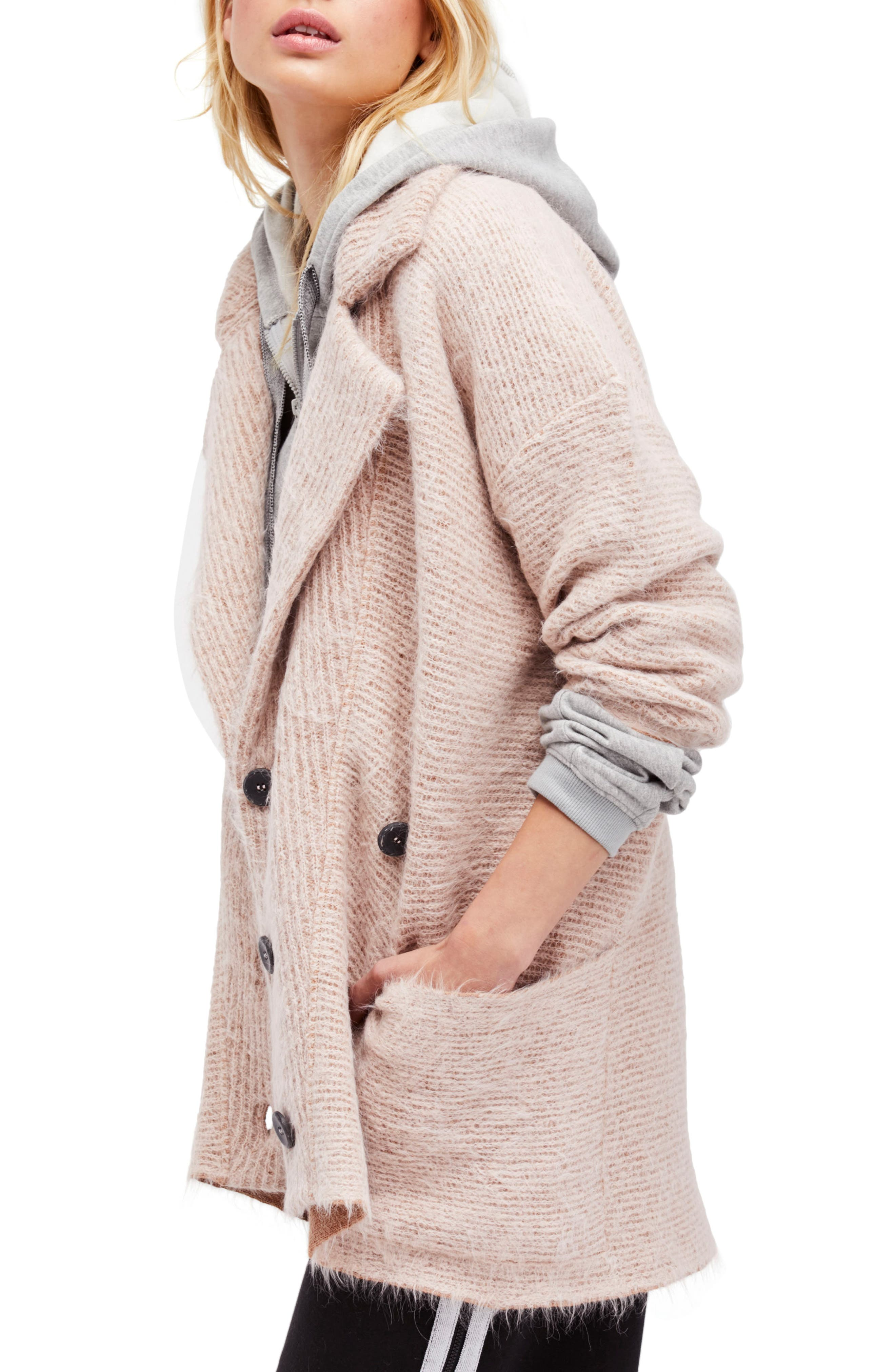 Take Two Sweater Coat,                         Main,                         color, Rose