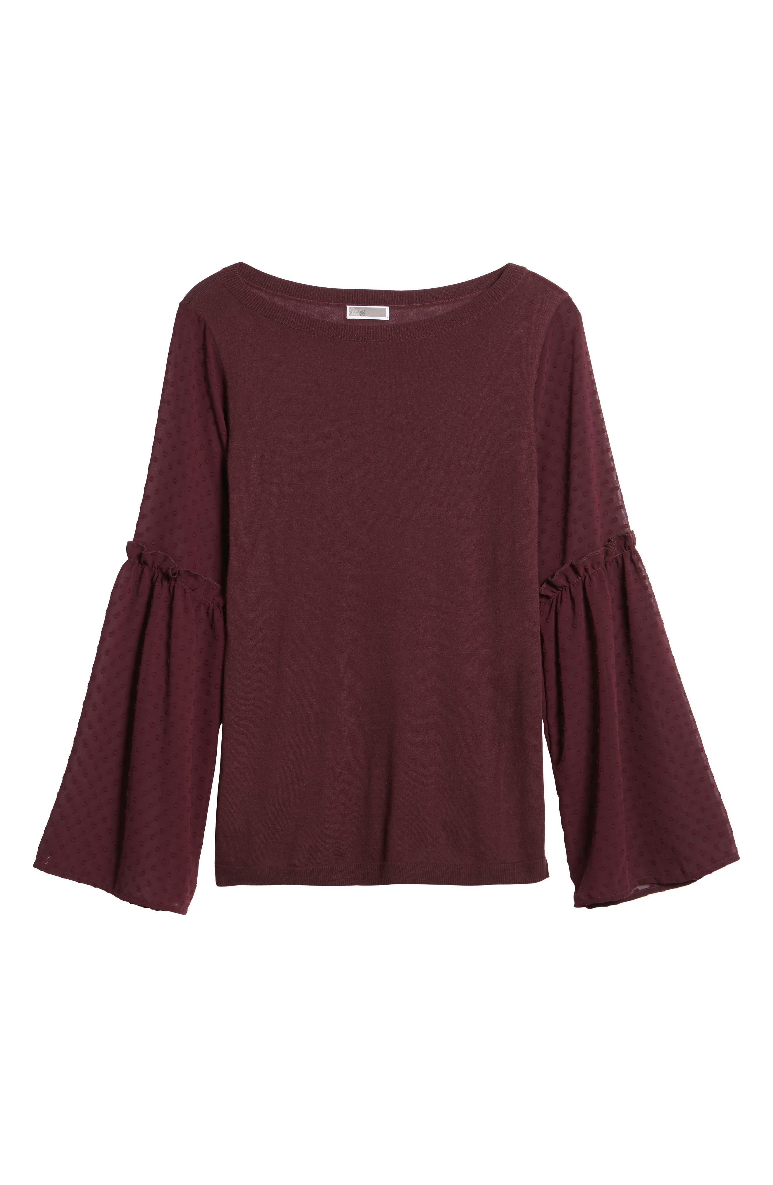 Alternate Image 6  - Chelsea28 Bell Sleeve Sweater