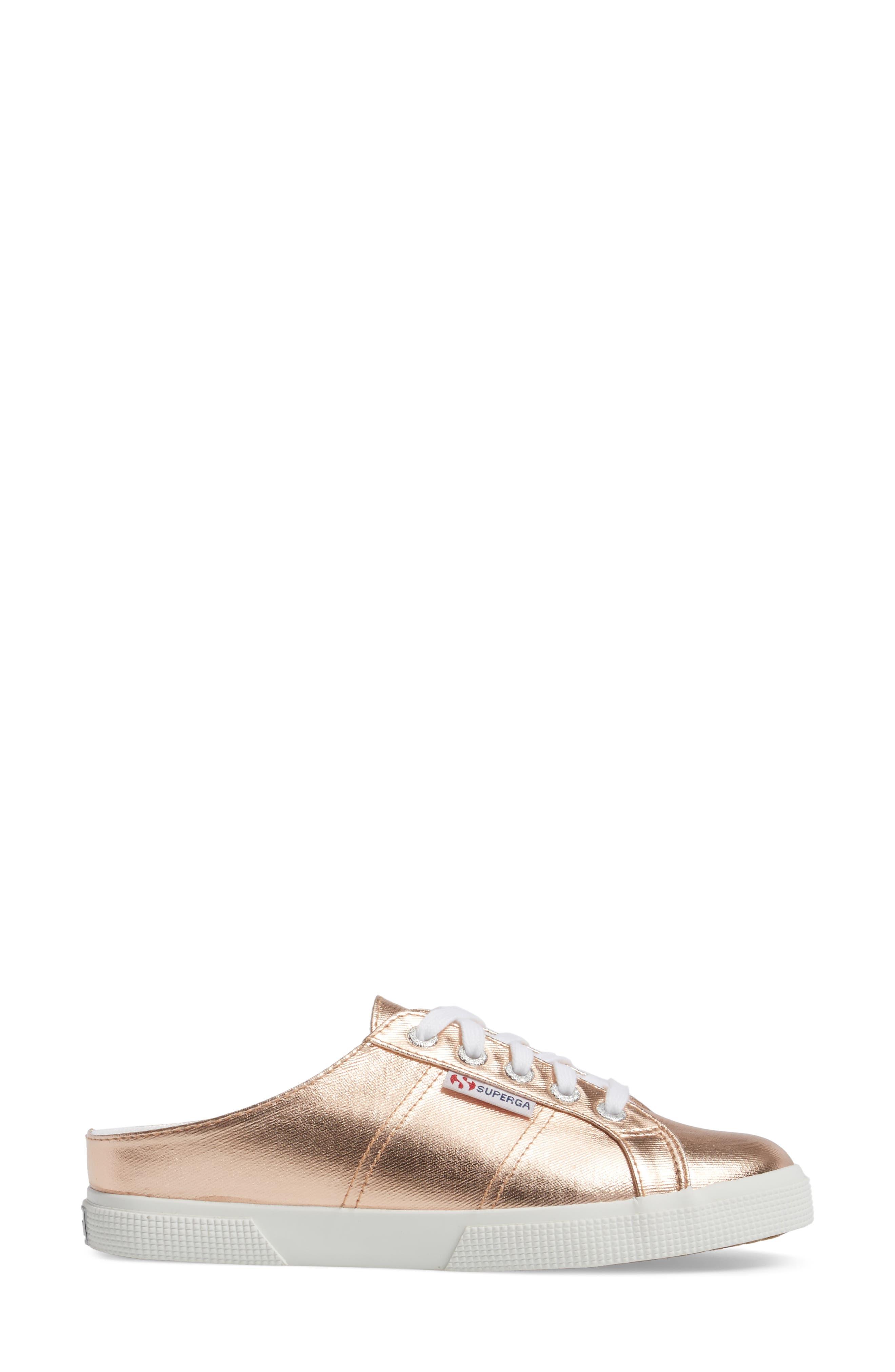2288 Sneaker Mule,                             Alternate thumbnail 3, color,                             Rose Gold