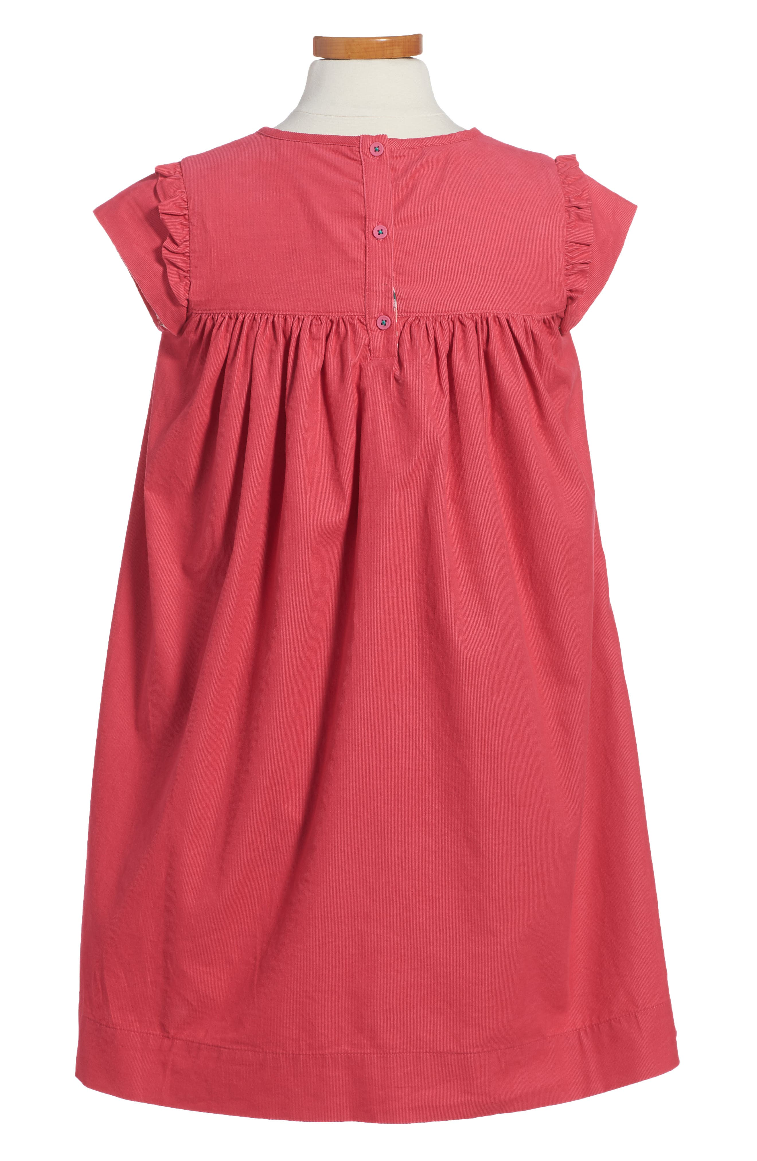Pretty Corduroy Dress,                             Alternate thumbnail 2, color,                             Pink Honeysuckle