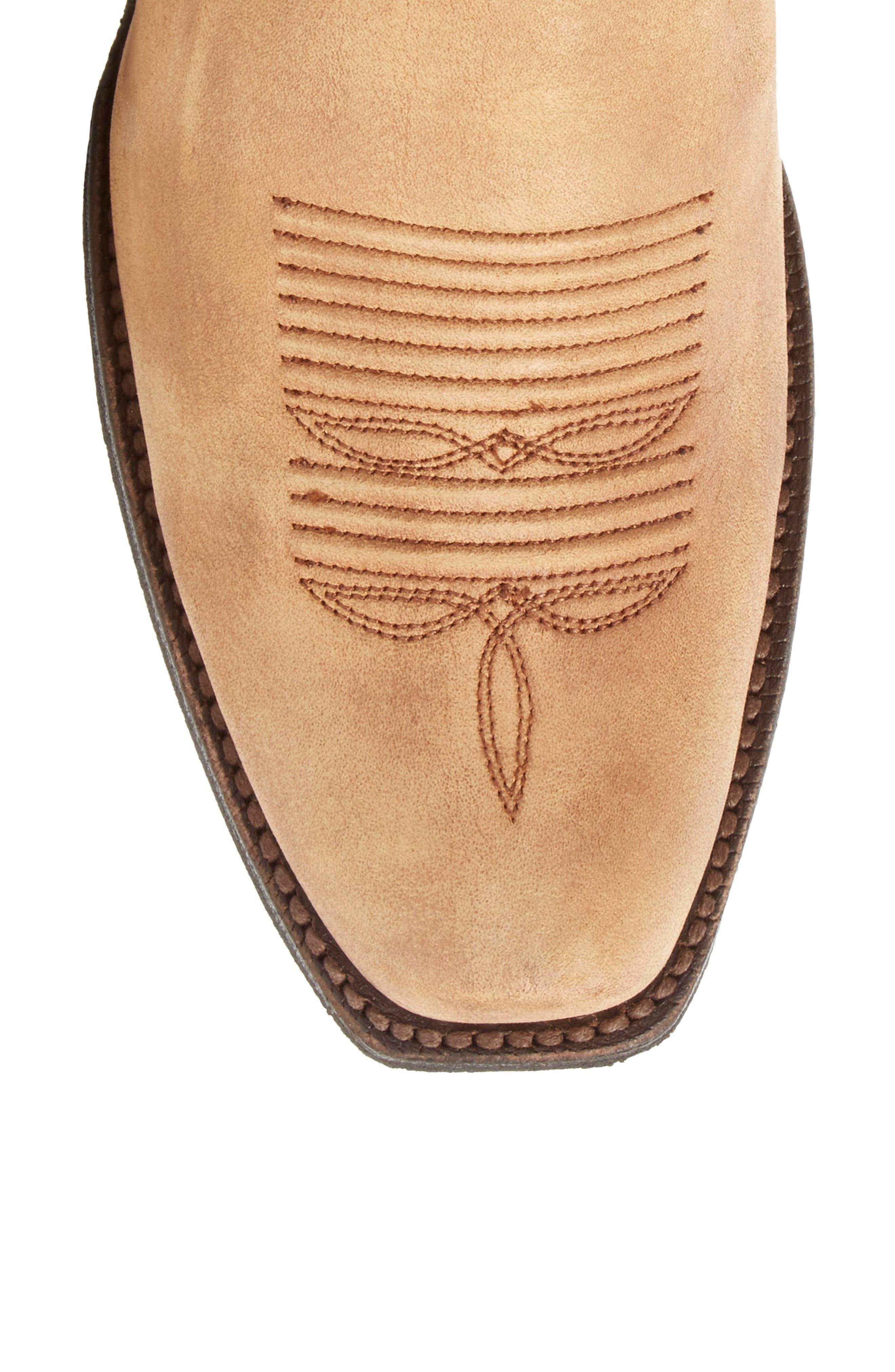 Leyton Fringe Western Boot,                             Alternate thumbnail 5, color,                             Tack Room Honey Leather