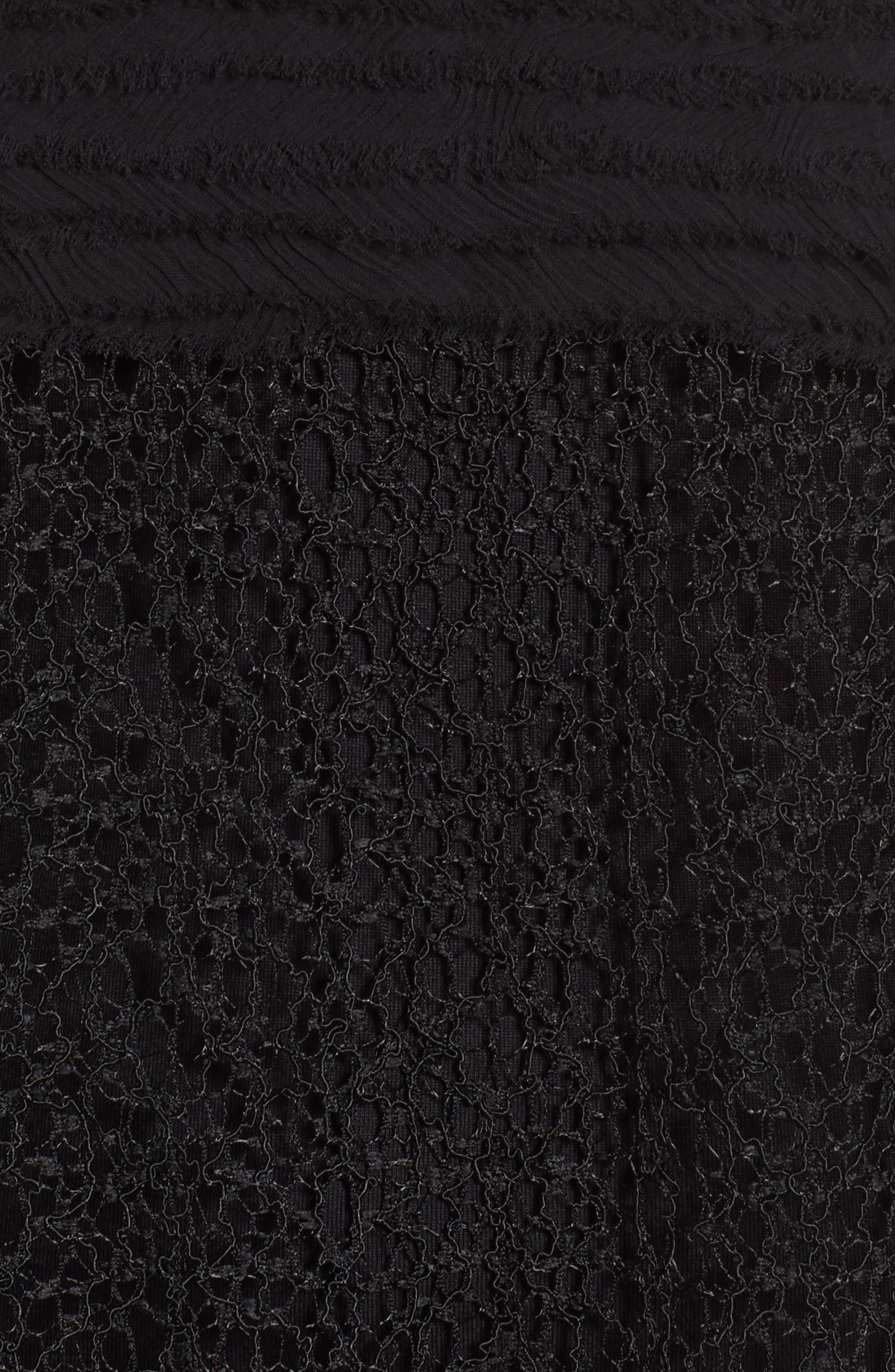 Alternate Image 5  - Trouvé Chiffon & Lace Top