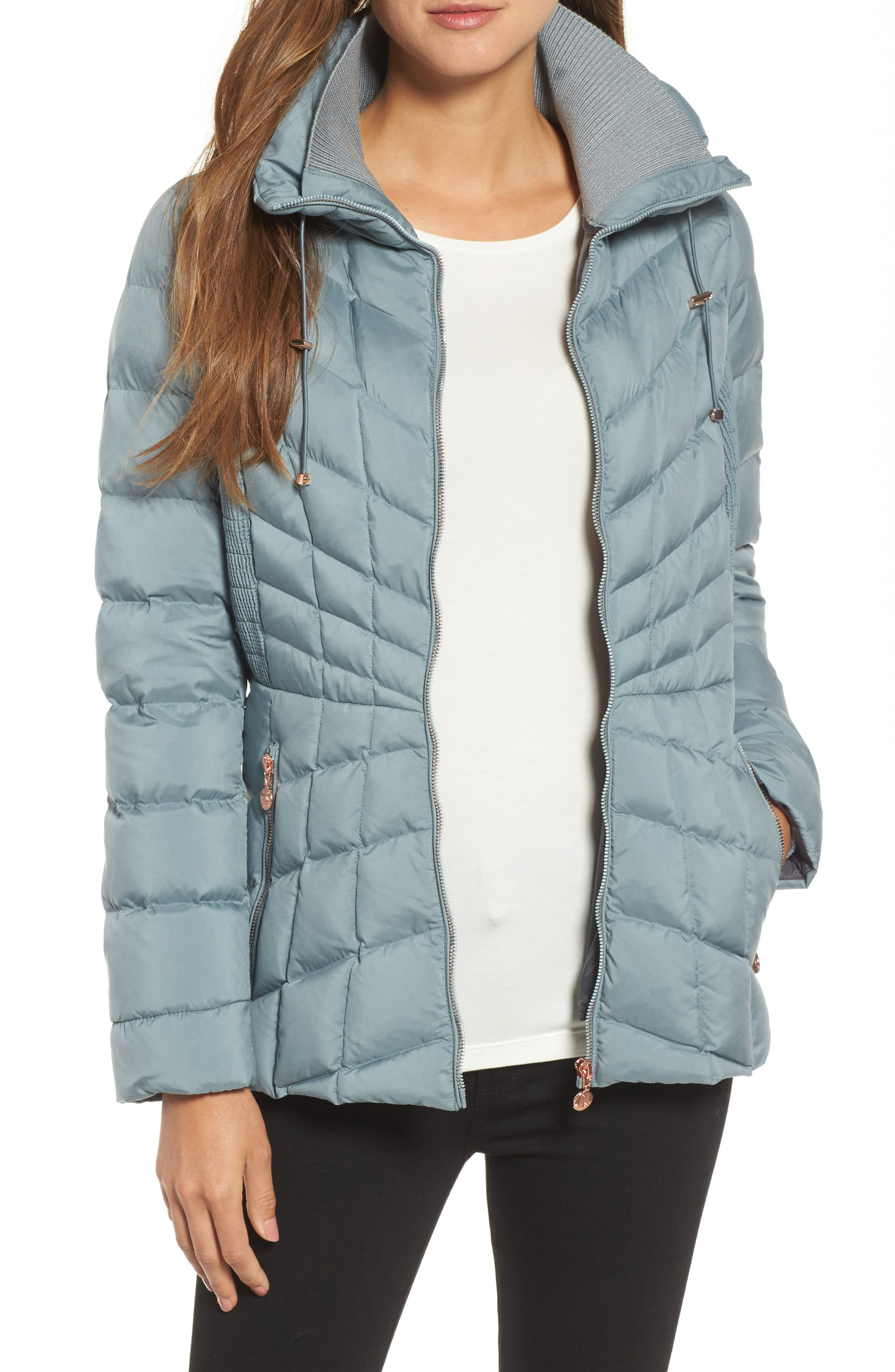 Bernardo Packable Down & PrimaLoft® Coat (Regular & Petite)