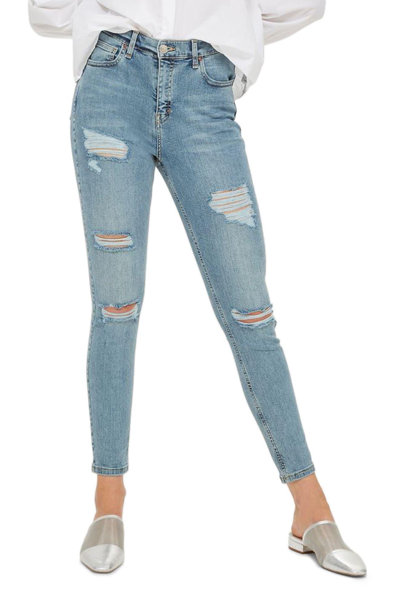 TOPSHOP Super Rip Mom Jeans