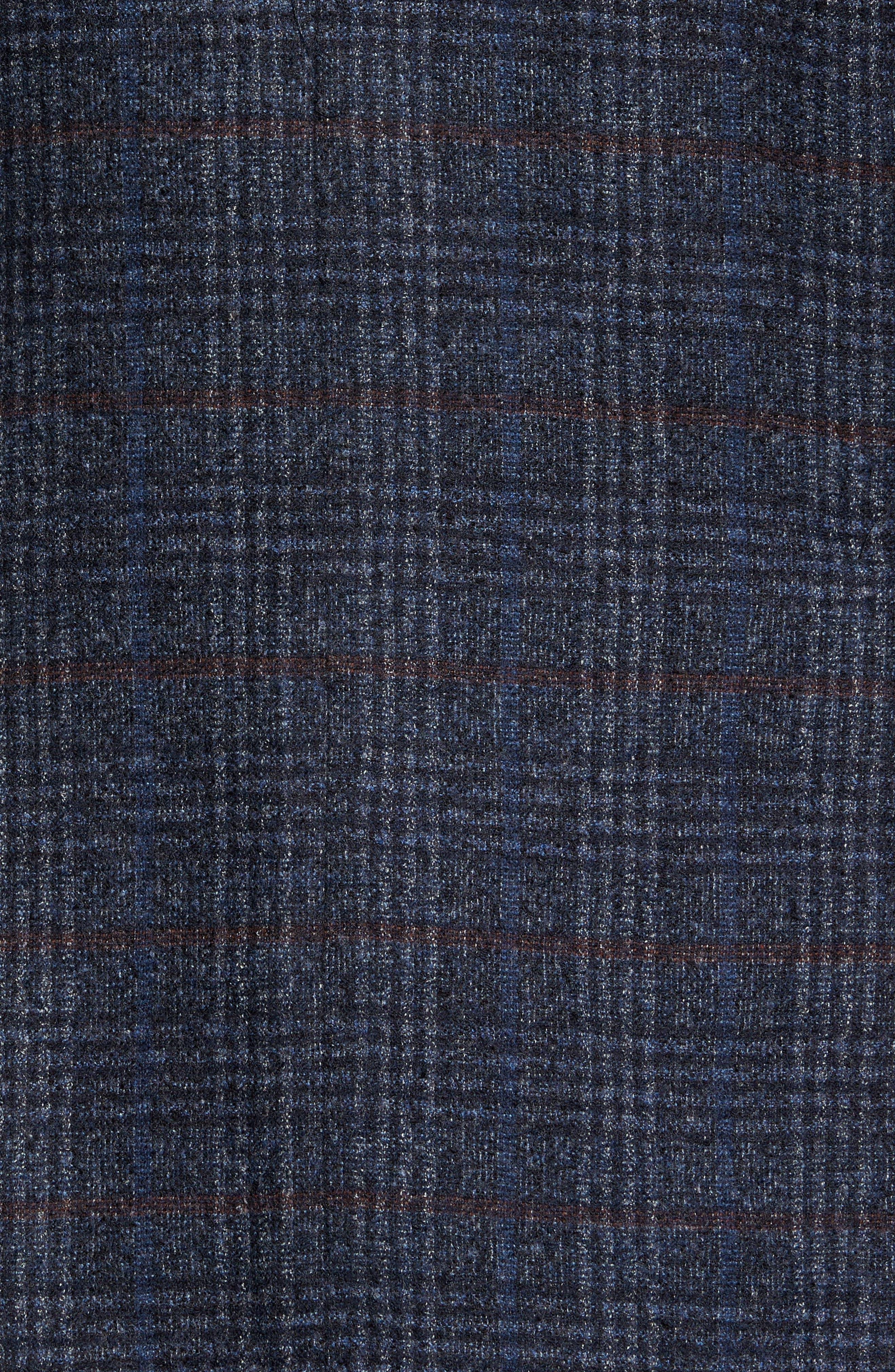 Plaid Sport Coat,                             Alternate thumbnail 5, color,                             Indigo
