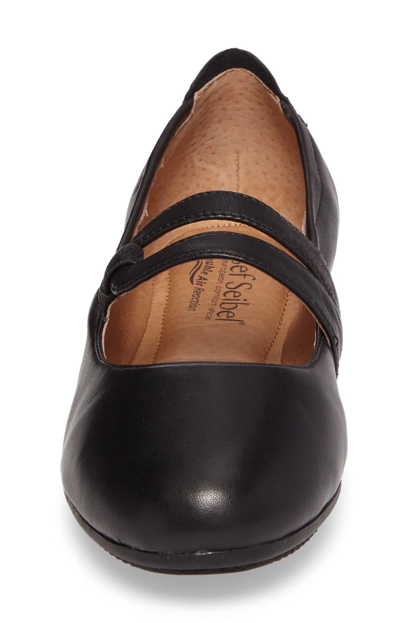 Pippa 63 Flat,                             Alternate thumbnail 4, color,                             Black Leather