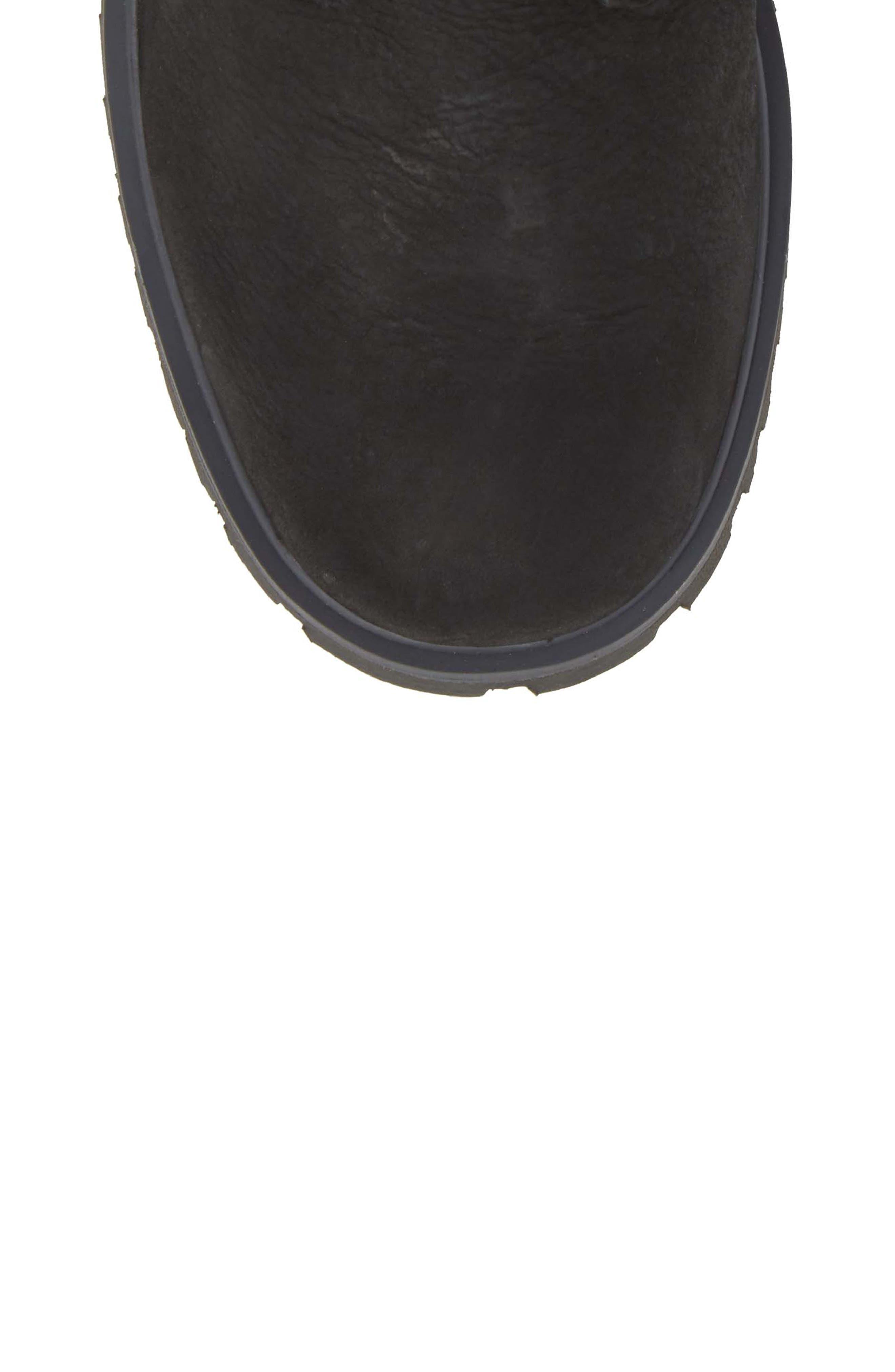 Marion Waterproof Winter Boot,                             Alternate thumbnail 5, color,                             Jet Black / Ebony / Black