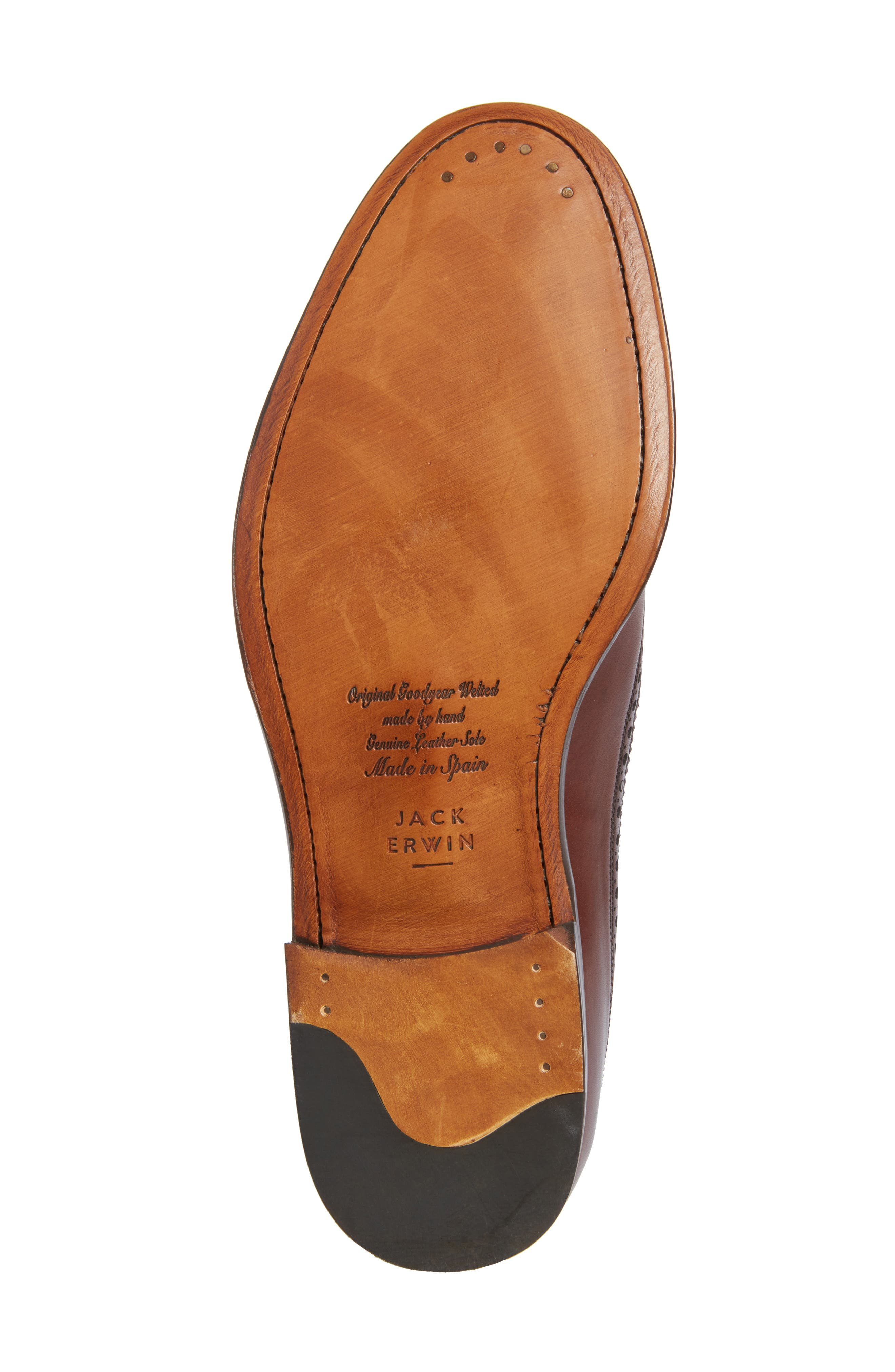 Hubert Longwing Derby,                             Alternate thumbnail 6, color,                             Chocolate Leather
