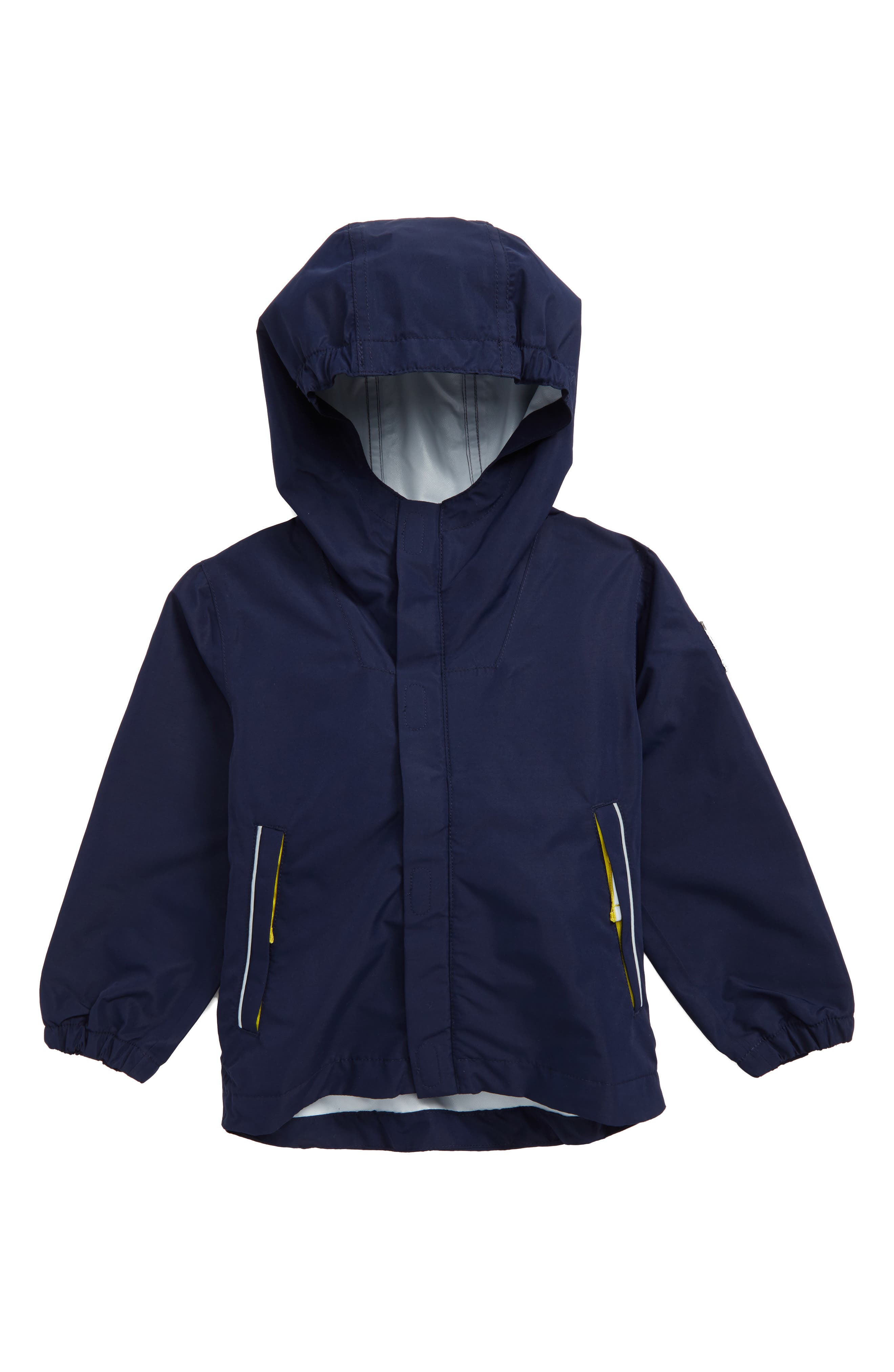 Alternate Image 1 Selected - Mini Boden Packaway Waterproof Jacket (Toddler Boys, Little Boys & Big Boys)