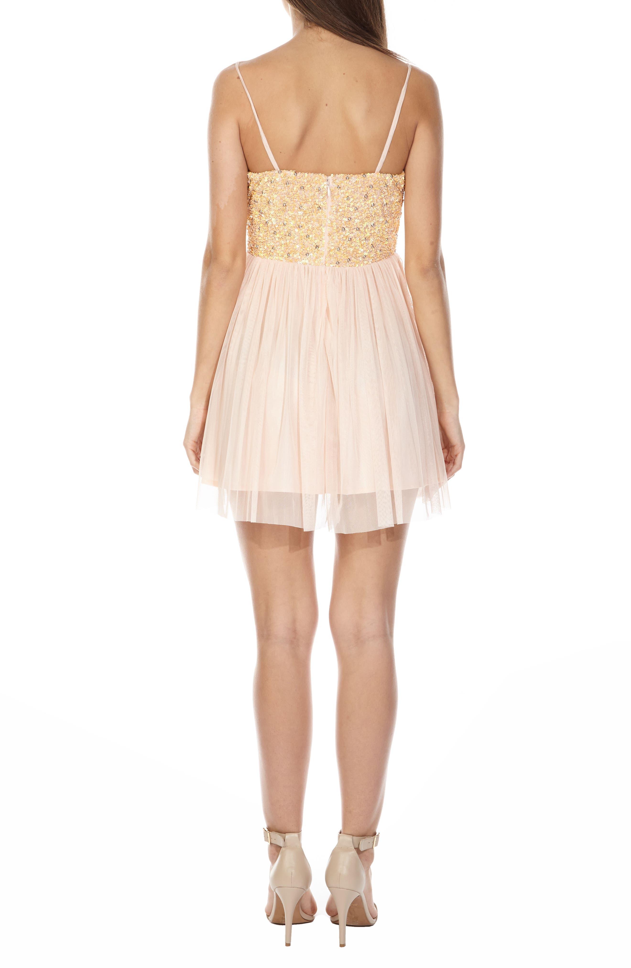 Alternate Image 2  - Lace & Beads Irina Embellished Chiffon Dress