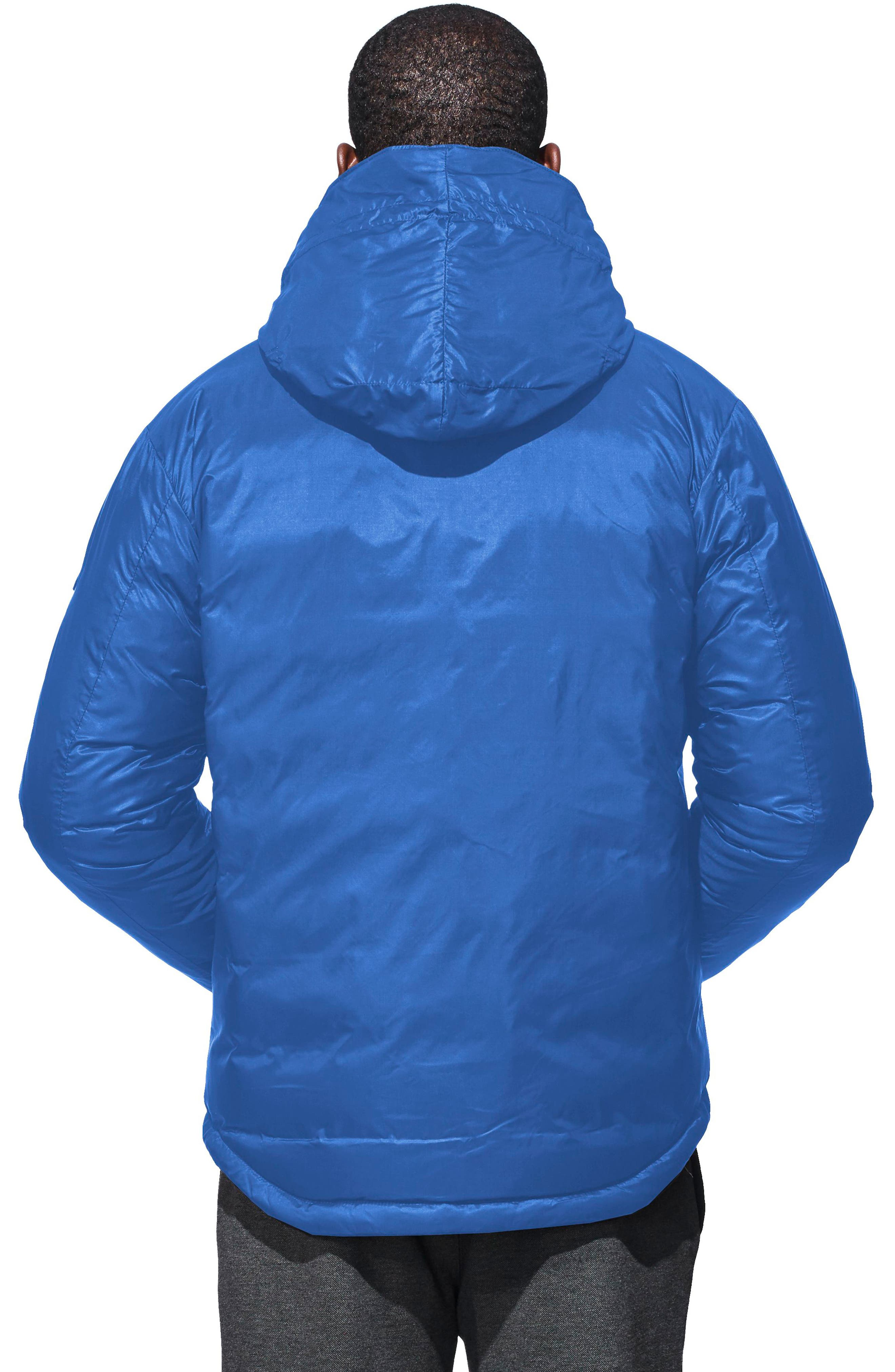 PBI Lodge Packable Down Hooded Jacket,                             Alternate thumbnail 2, color,                             Royal Blue