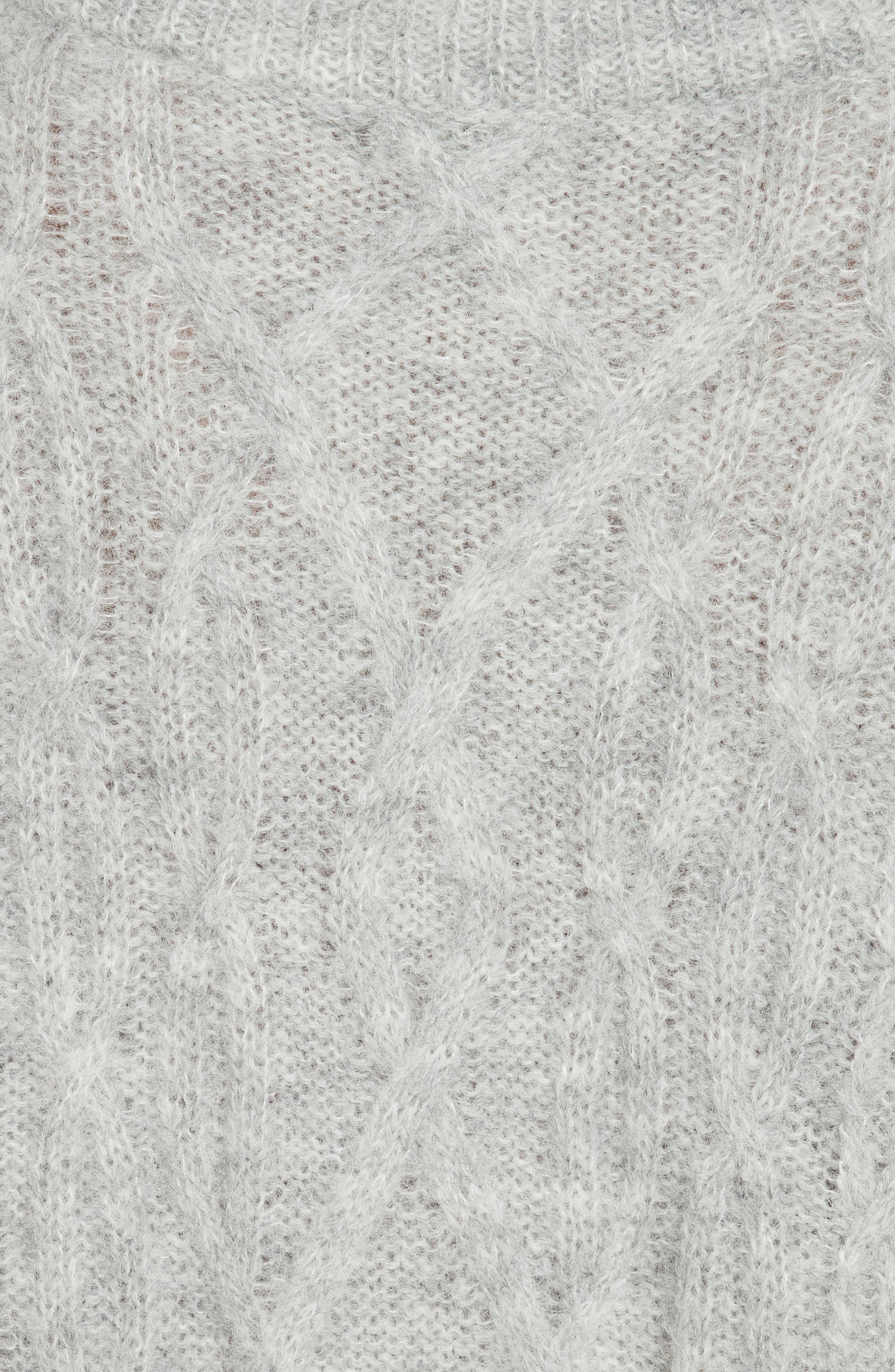 Garlan Mock Neck Sweater,                             Alternate thumbnail 5, color,                             Light Heather Grey
