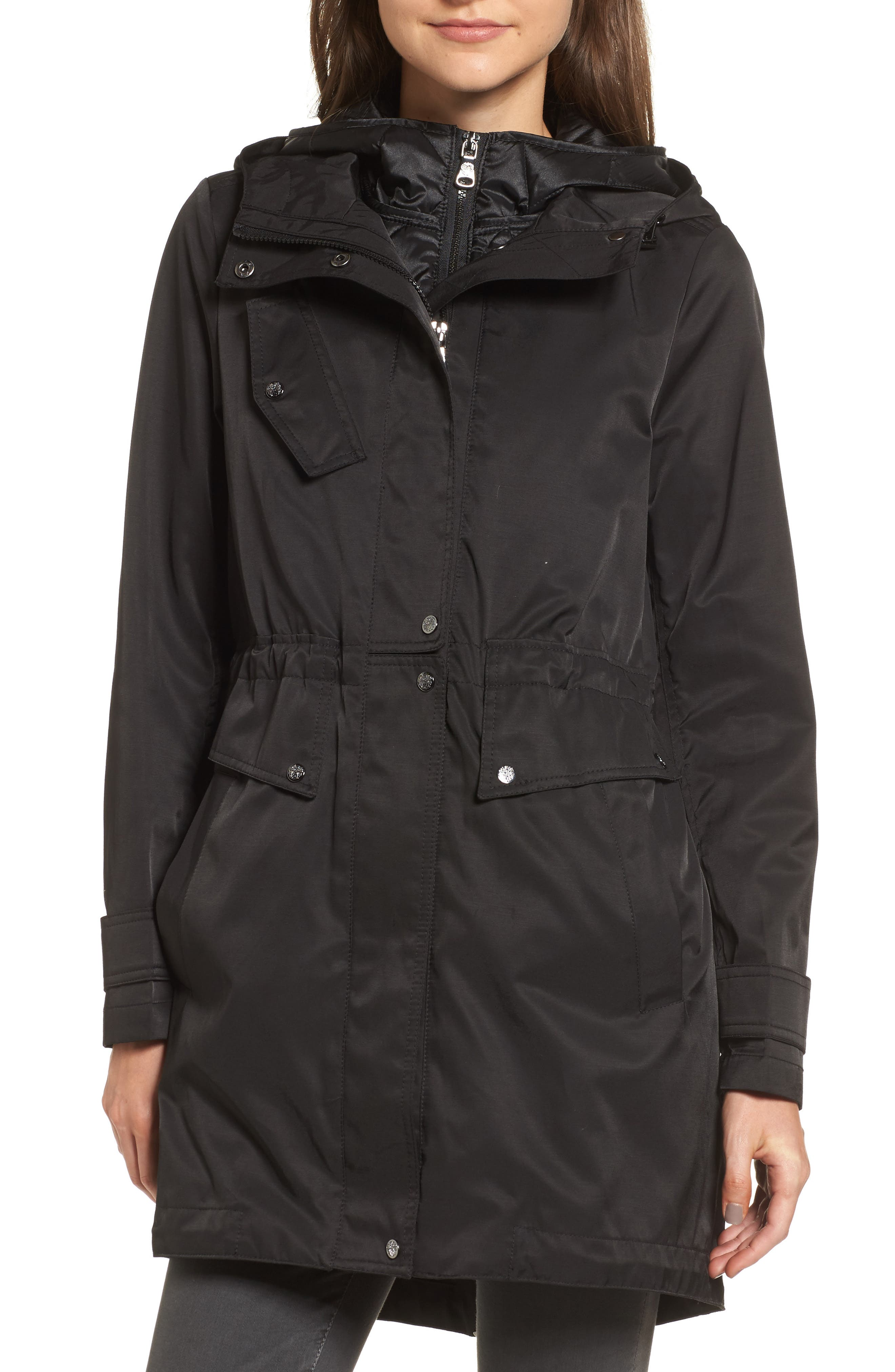 Vince Camuto Parka with Detachable Bib Insert
