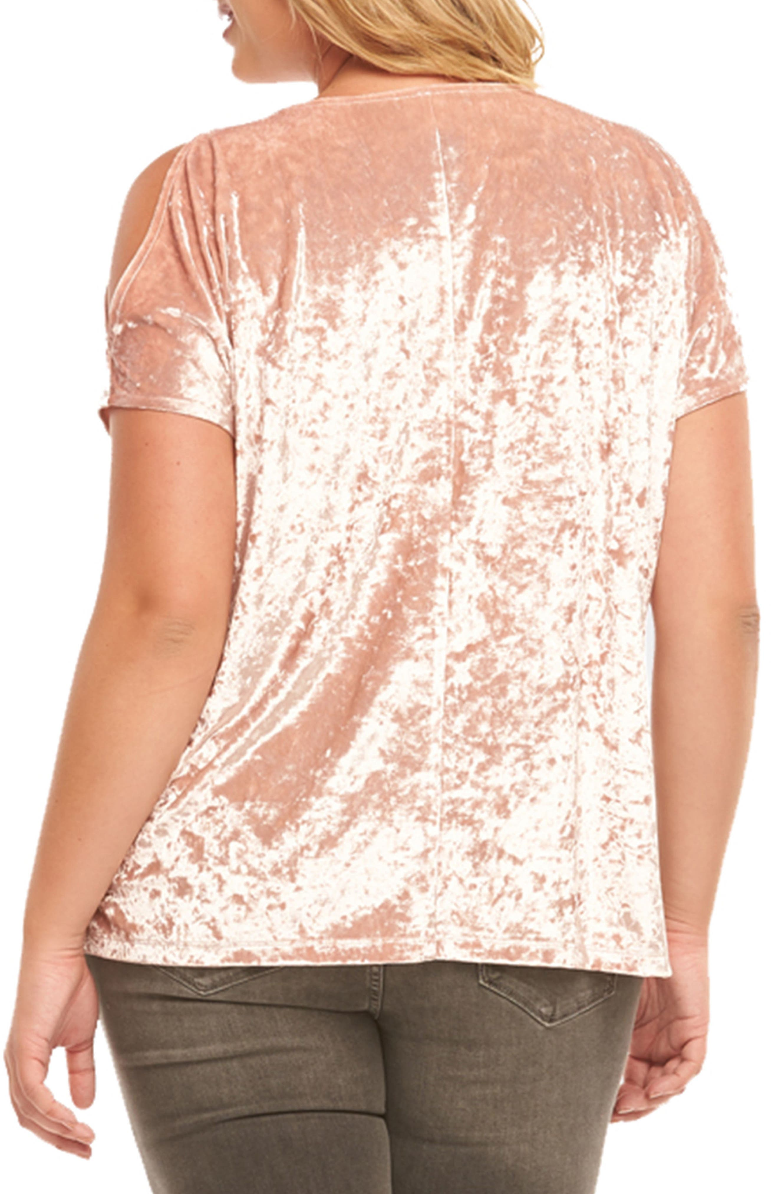 Rocky Cold Shoulder Top,                             Alternate thumbnail 2, color,                             Dusty Rose