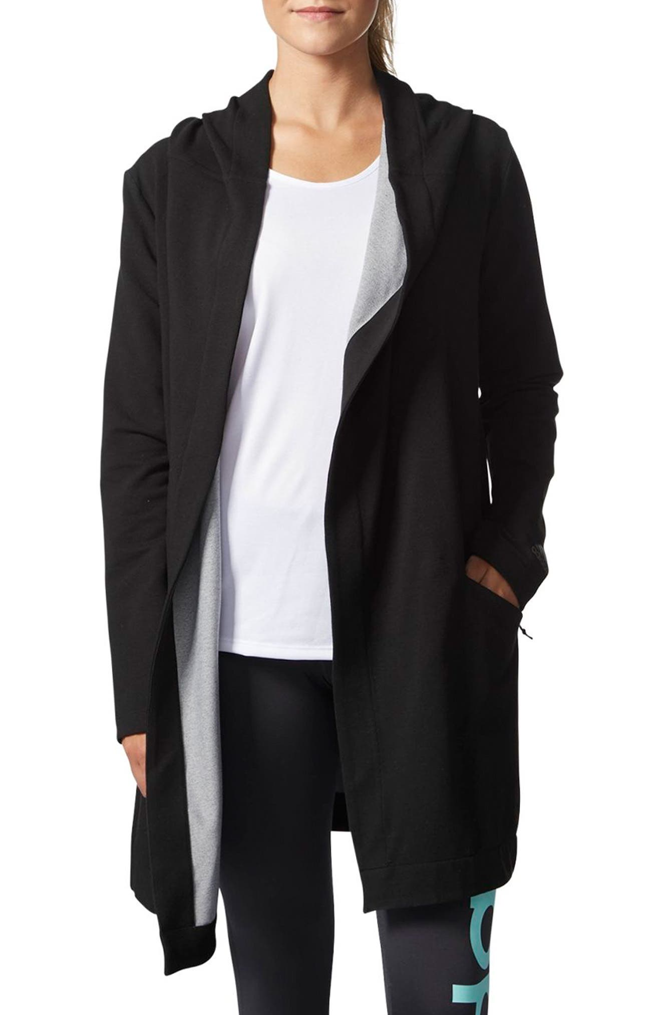 Performance Cover Up Jacket,                         Main,                         color, Black Melange