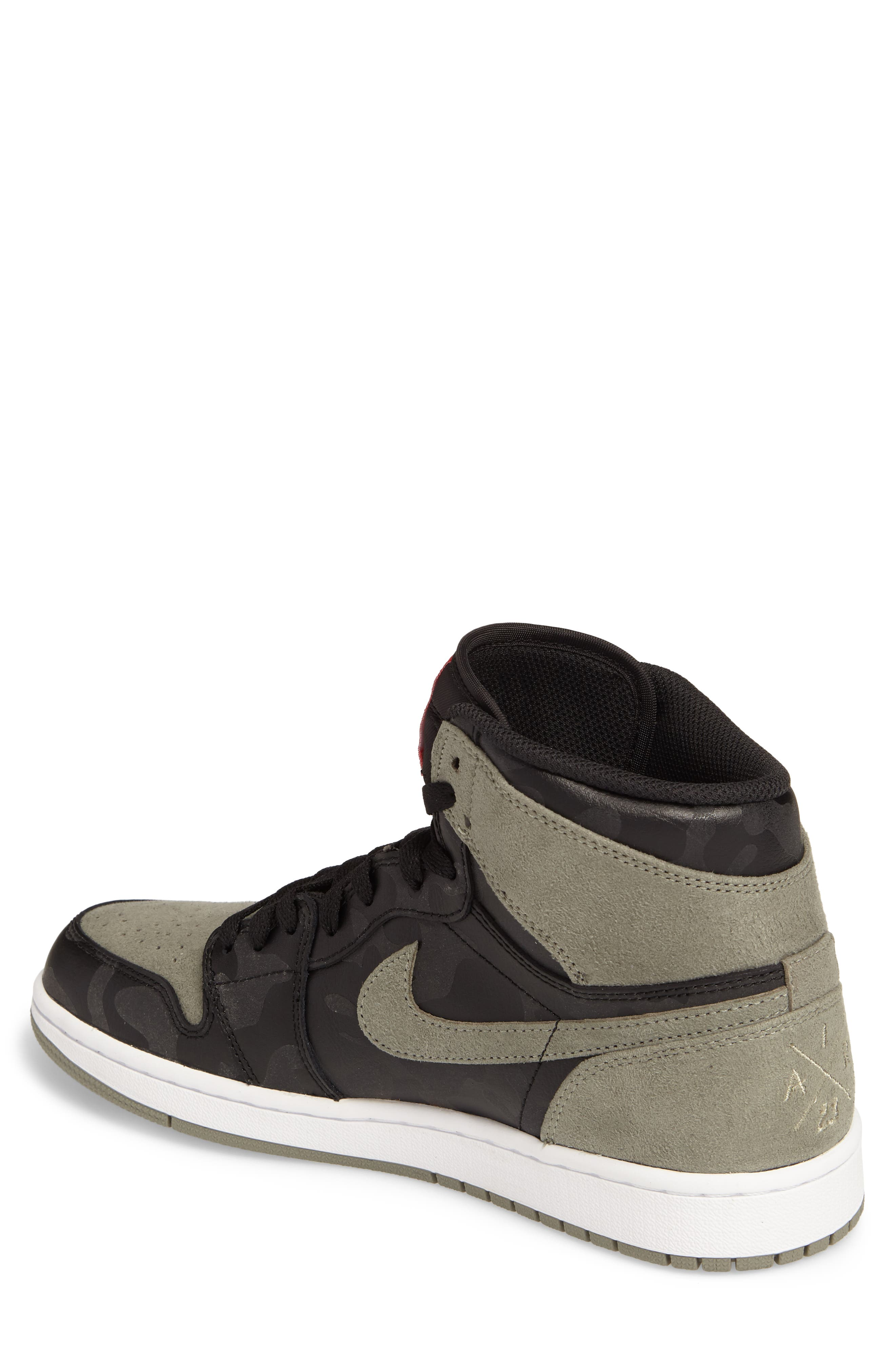 Air Jordan 1 Retro High Top Sneaker,                             Alternate thumbnail 2, color,                             Black/ Black