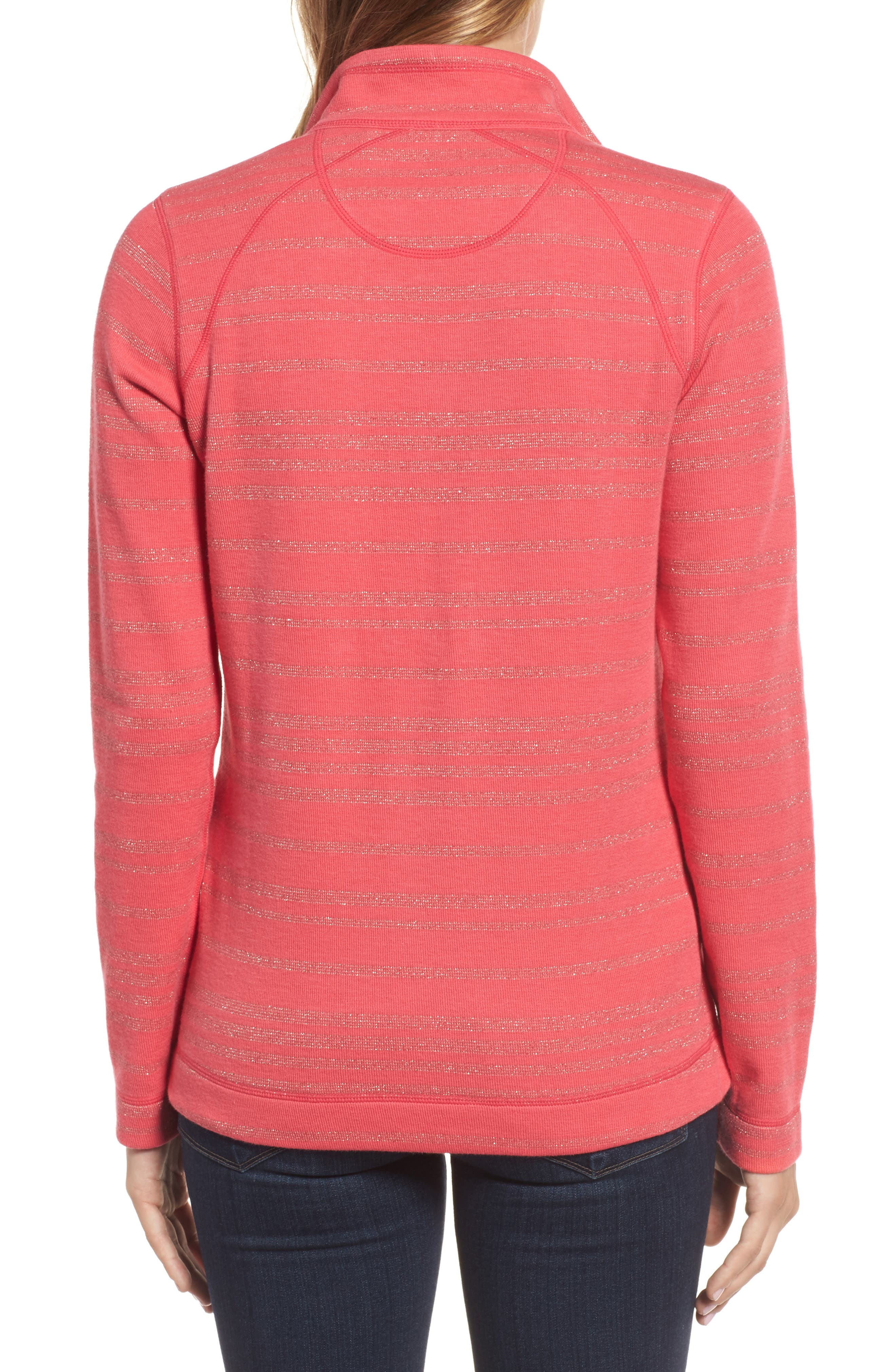 Aruba Shazam Stripe Half-Zip Pullover,                             Alternate thumbnail 2, color,                             Classic Pink