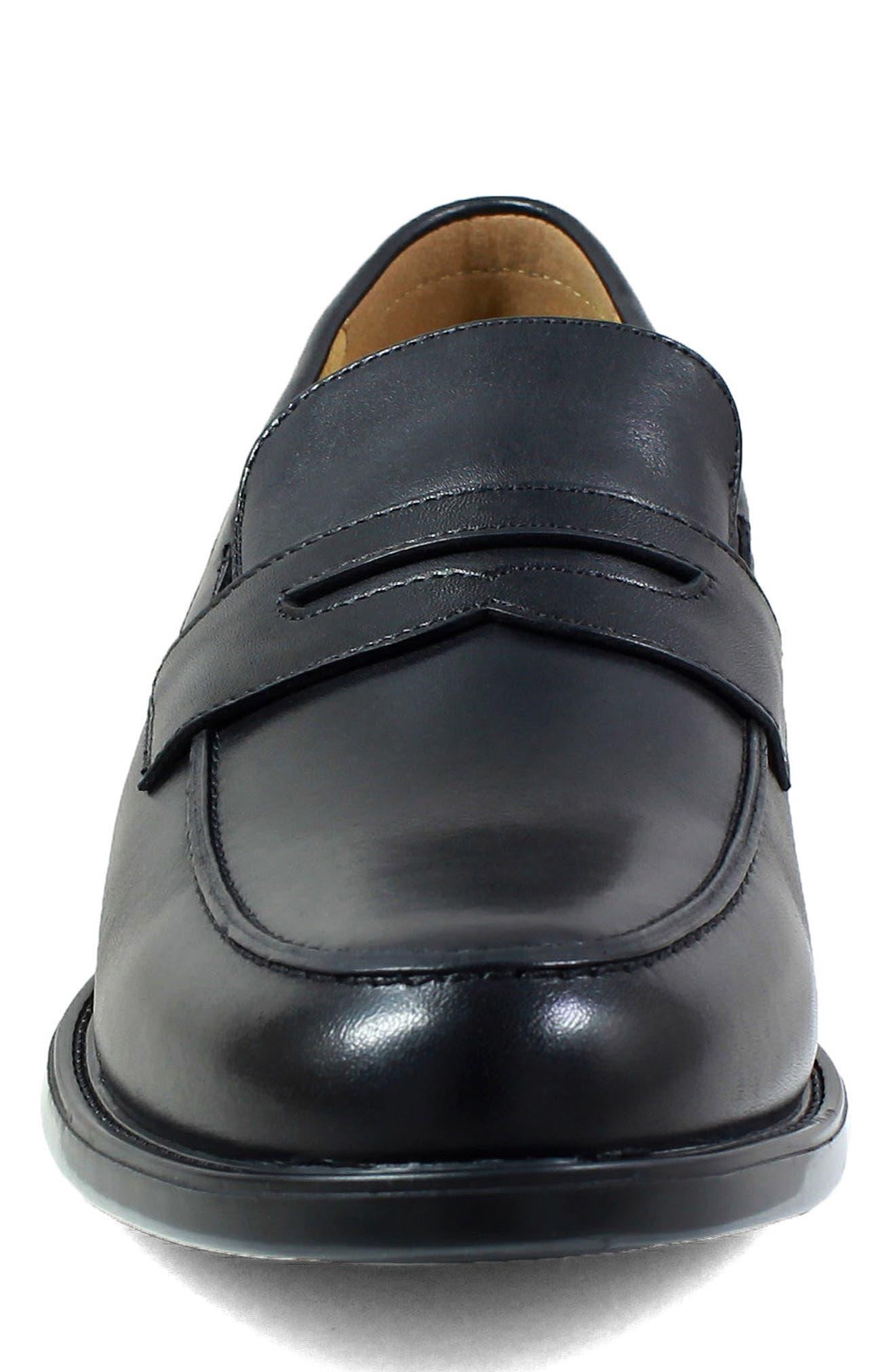 Midtown Penny Loafer,                             Alternate thumbnail 4, color,                             Black