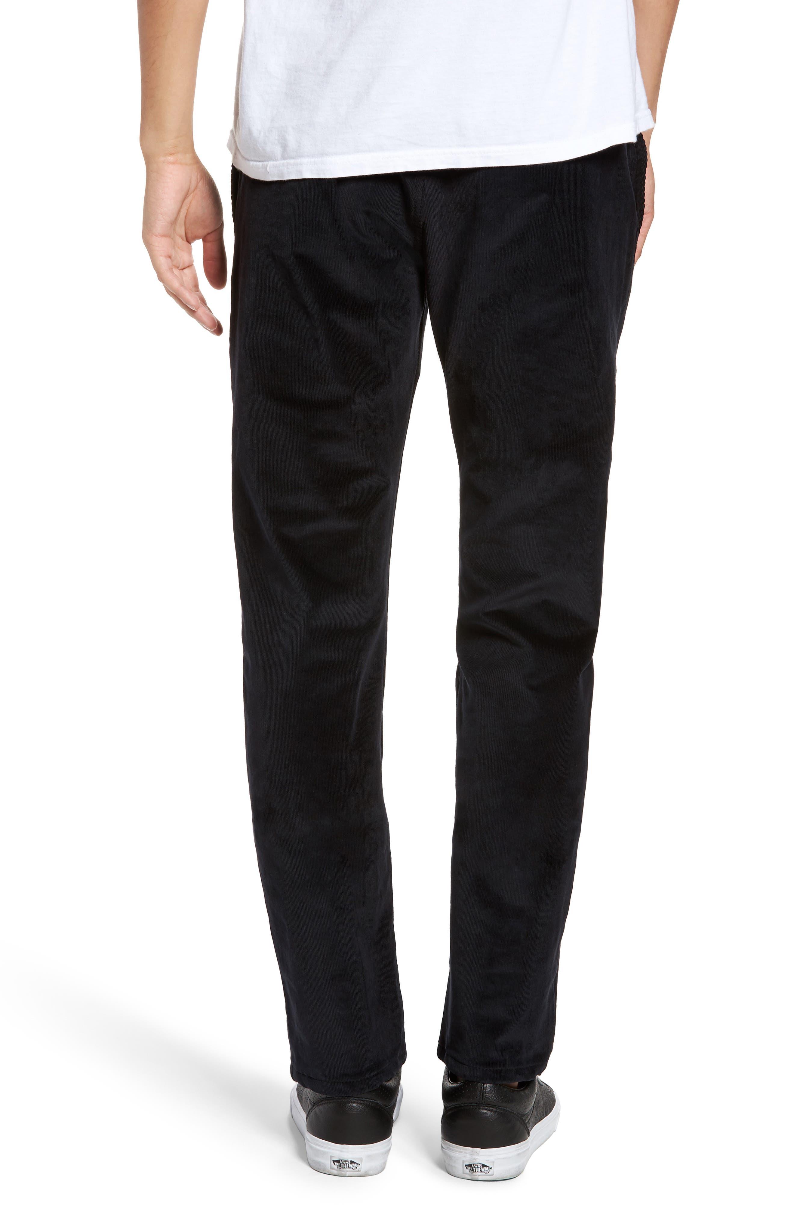 Naked & Famous Slim Chino Slim Fit Corduroy Pants,                             Alternate thumbnail 2, color,                             Black