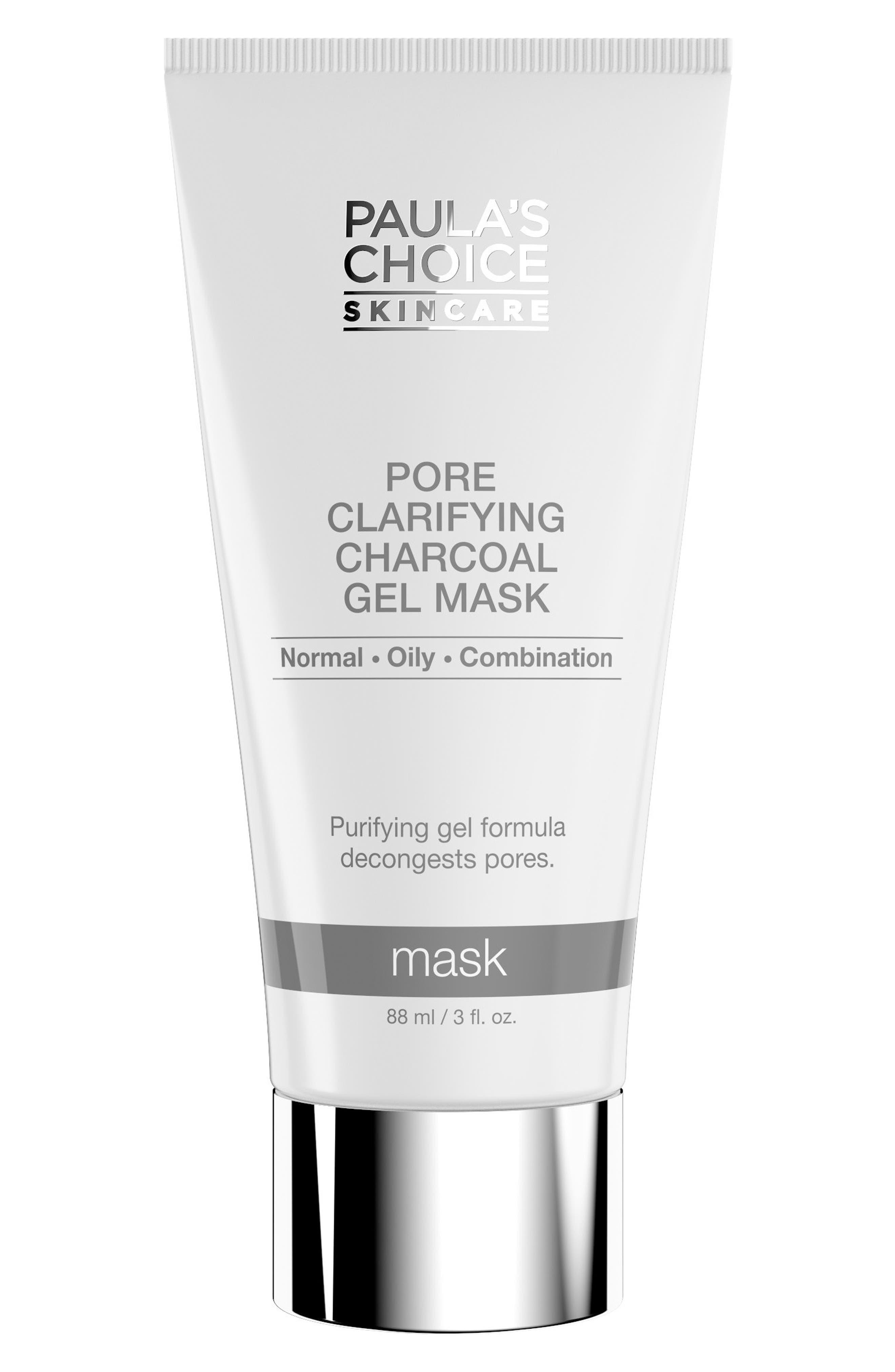 Pore Clarifying Charcoal Gel Mask,                         Main,                         color, No Color