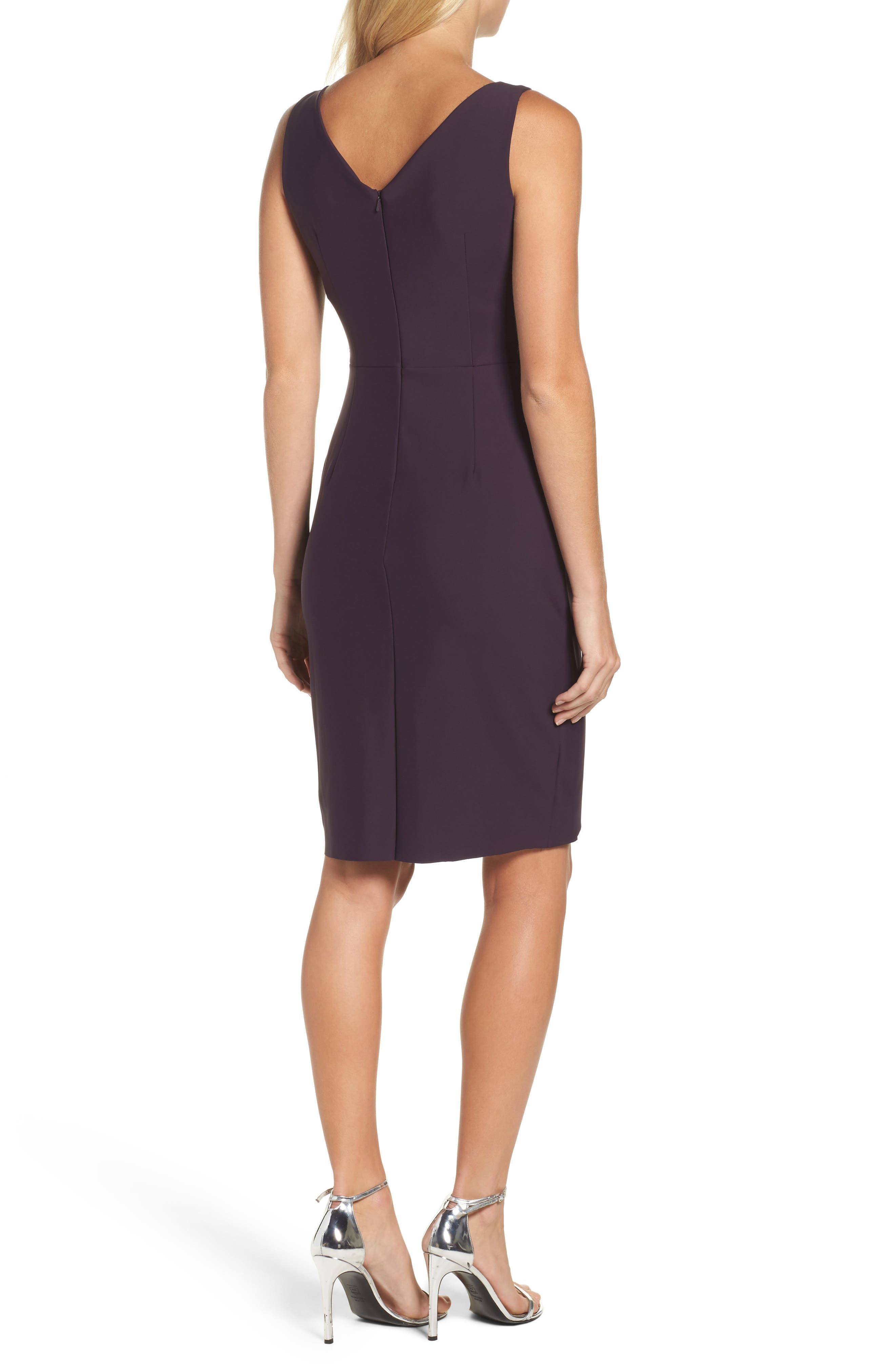 Alternate Image 2  - Alex Evenings Side Ruched Dress (Regular & Petite)