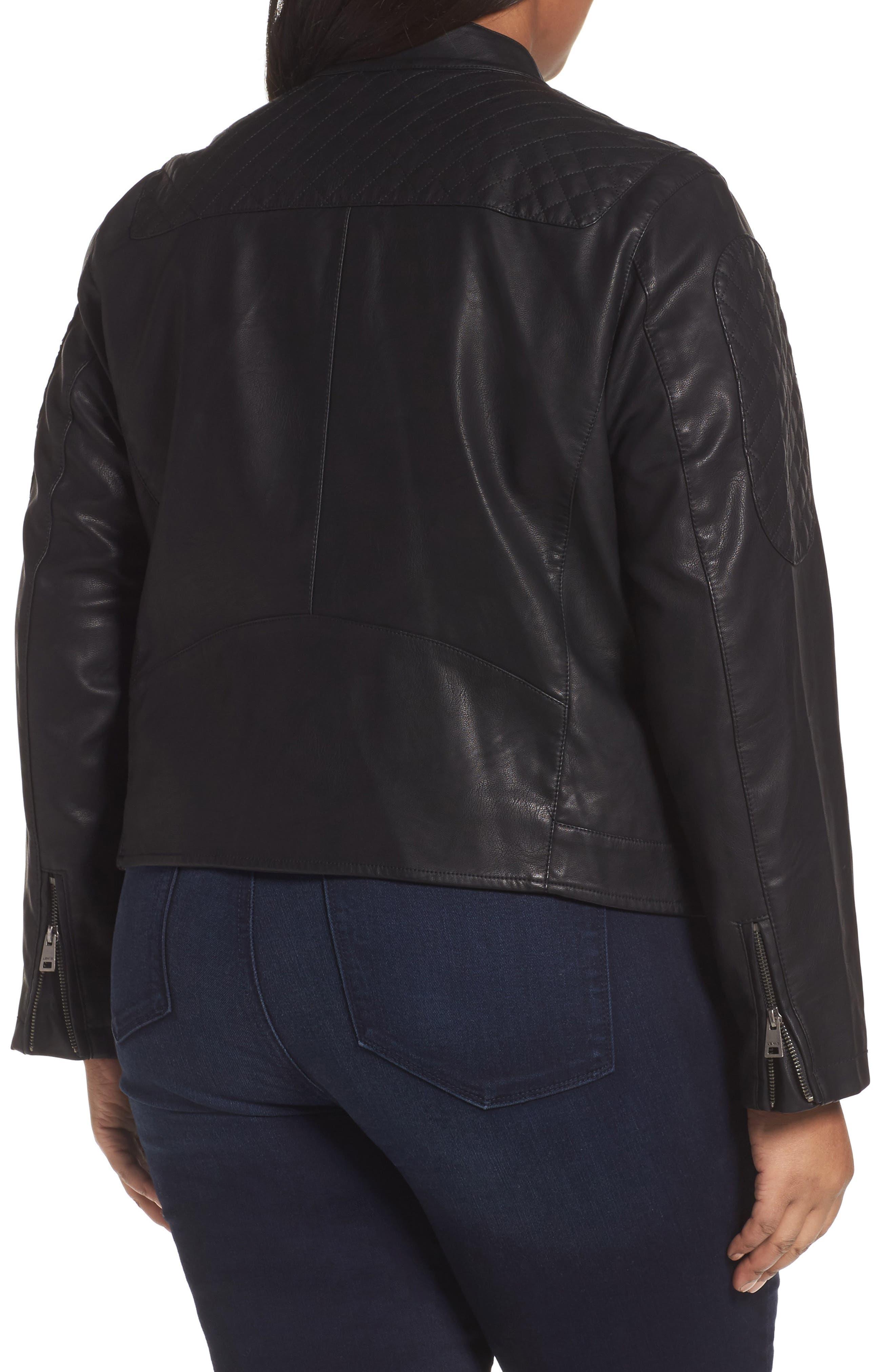 Alternate Image 2  - LEVIS® Faux Leather Moto Jacket