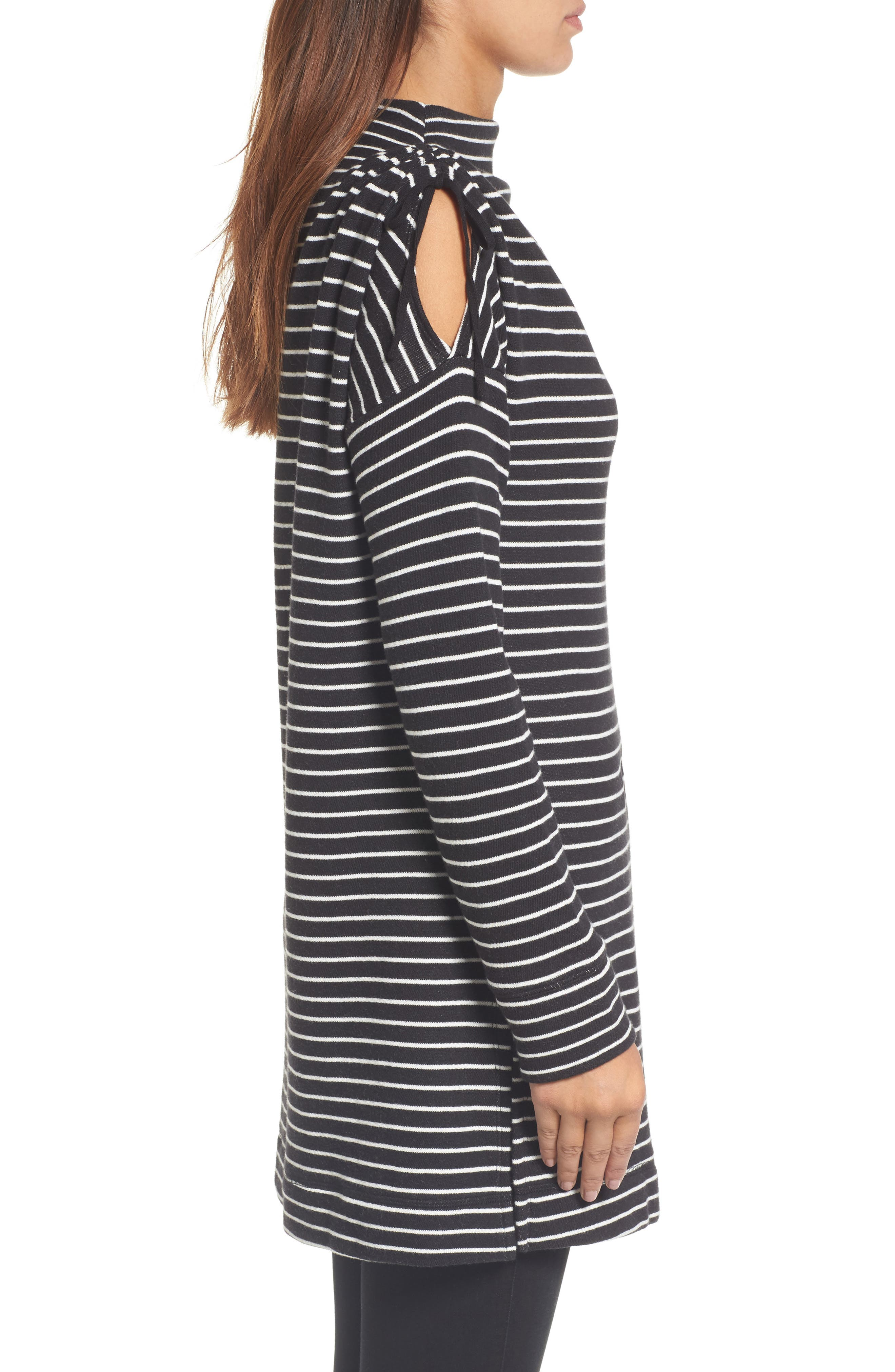 Alternate Image 3  - Caslon® Open Shoulder Sweatshirt Tunic (Regular & Petite)
