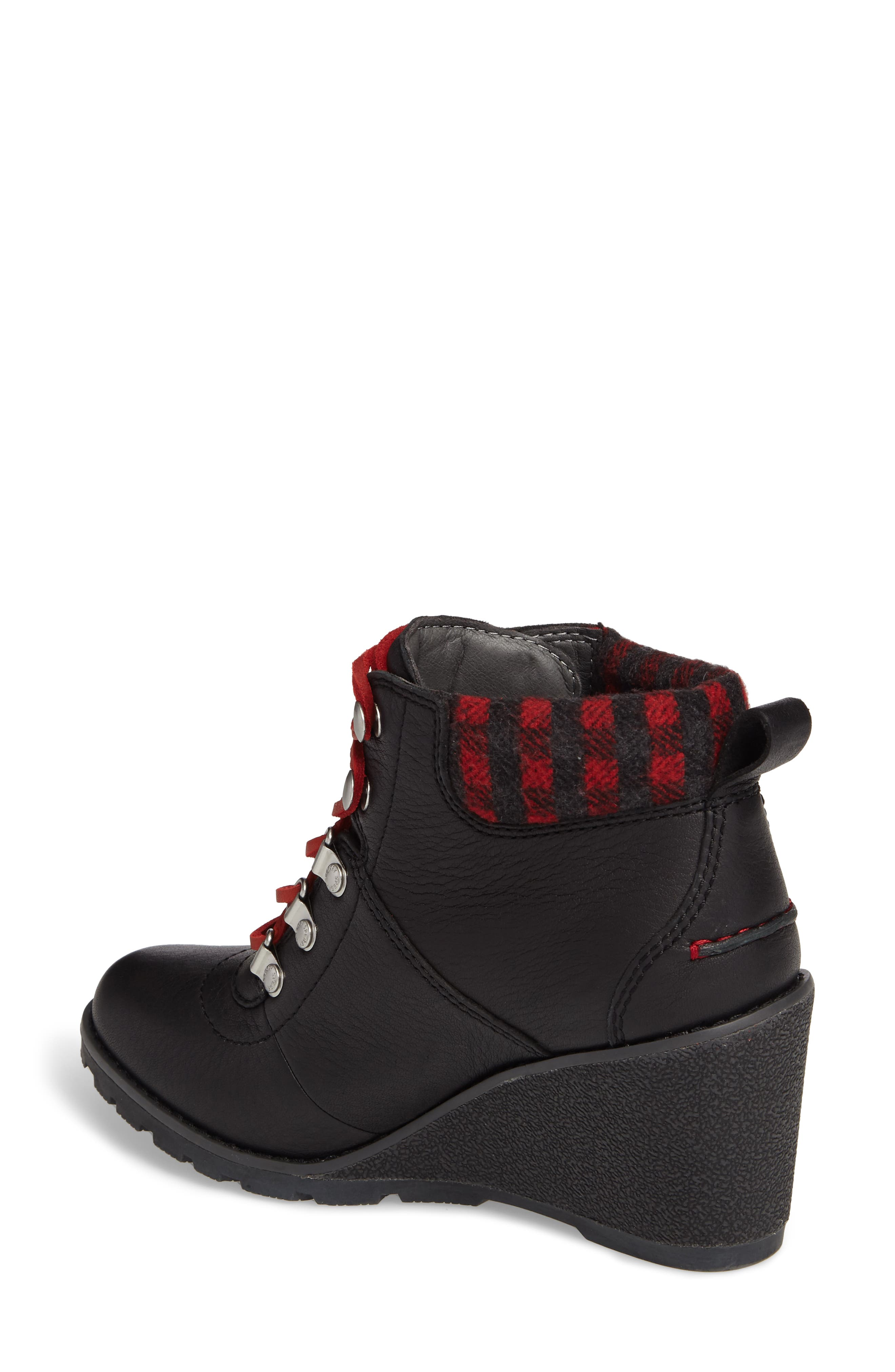 Top-Sider<sup>®</sup> Celeste Bliss Wedge Boot,                             Alternate thumbnail 2, color,                             Black Leather