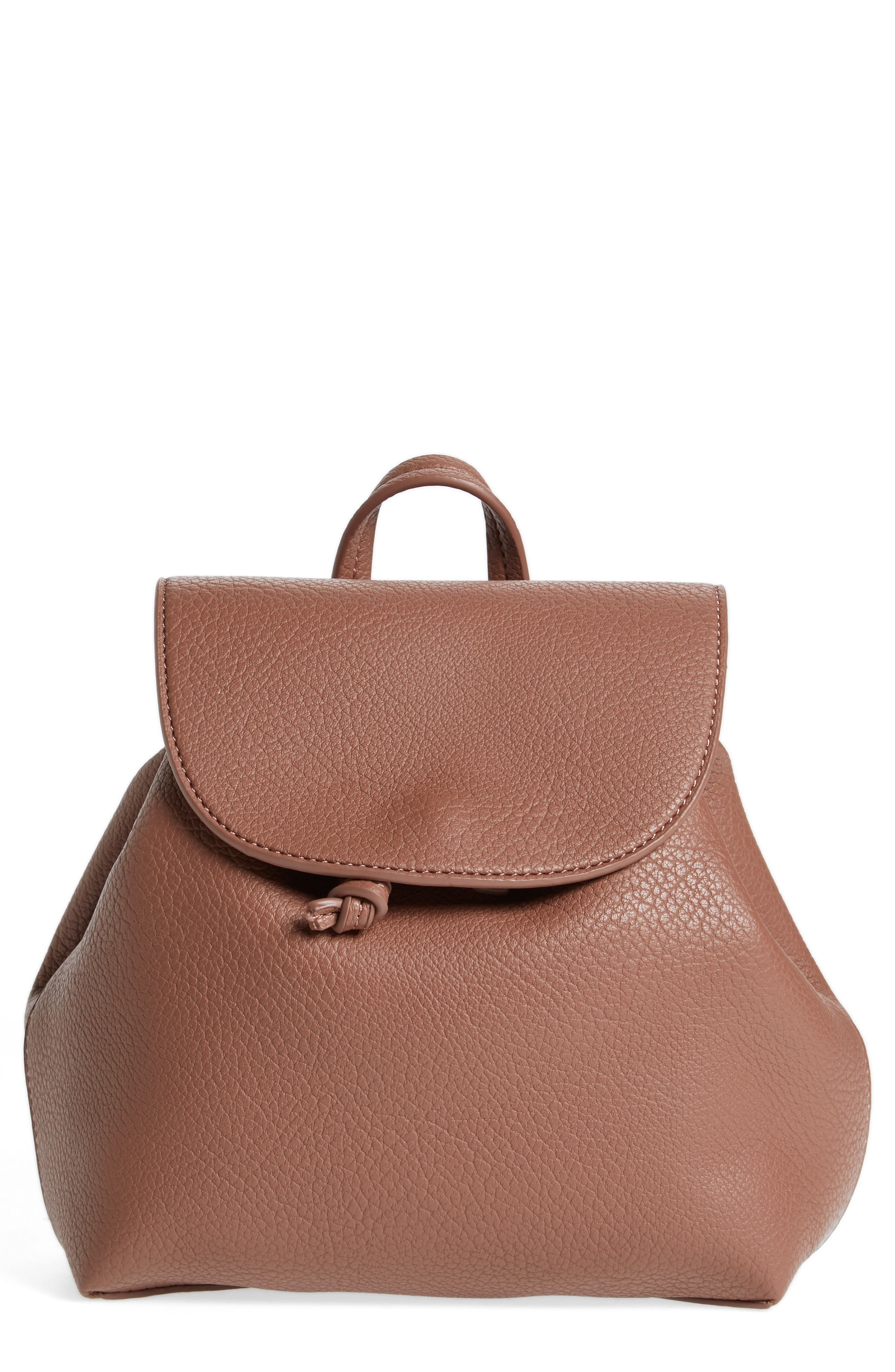 Alternate Image 1 Selected - Sole Society Jaylee Faux Leather Mini Backpack
