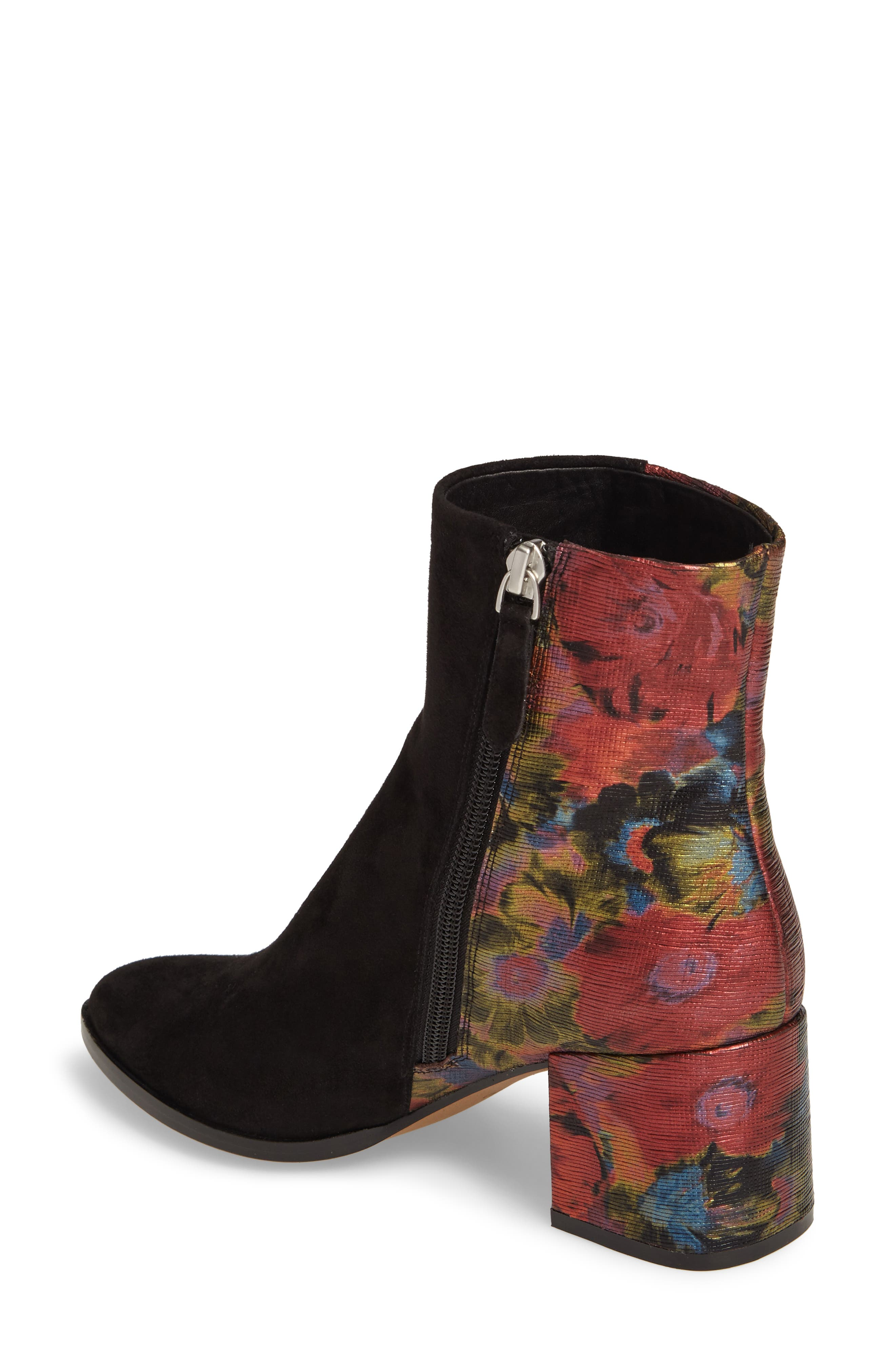 Brady Embellished Boot,                             Alternate thumbnail 2, color,                             Black/ Red Suede