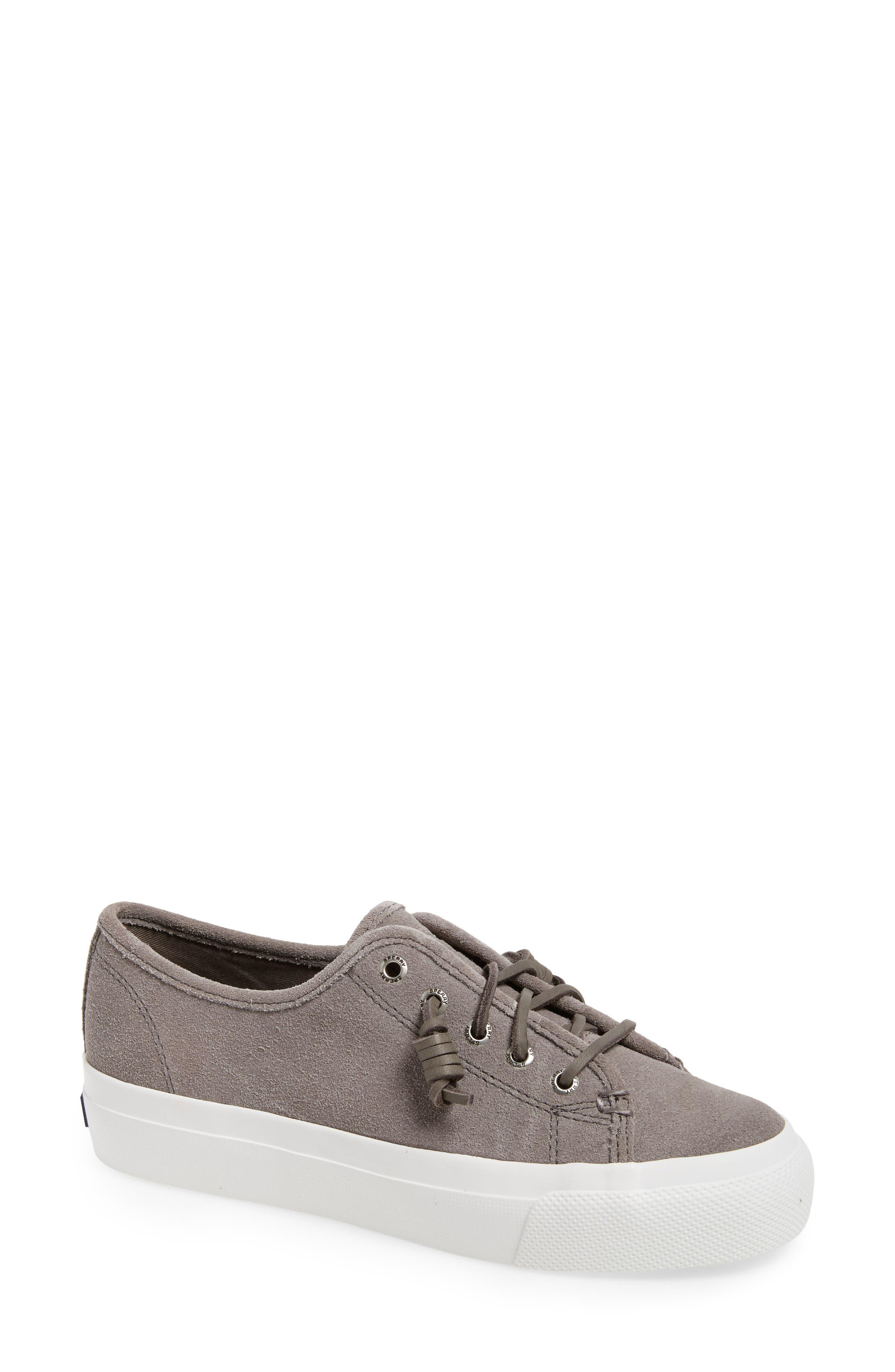 Sky Sail Platform Sneaker,                         Main,                         color, Driftwood Suede