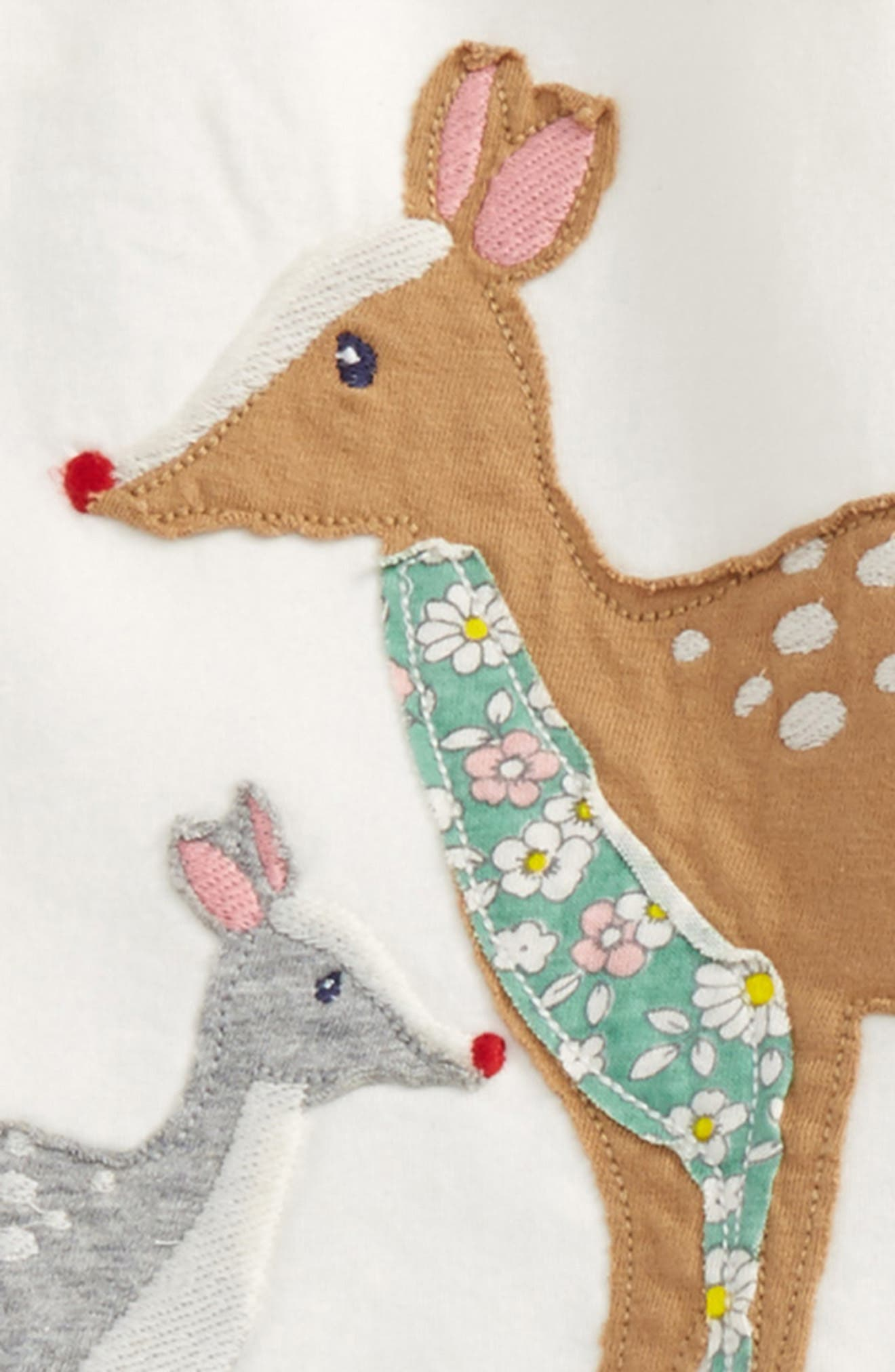 Alternate Image 2  - Mini Boden Animal Friends Tee & Leggings Set (Baby Girls & Toddler Girls)