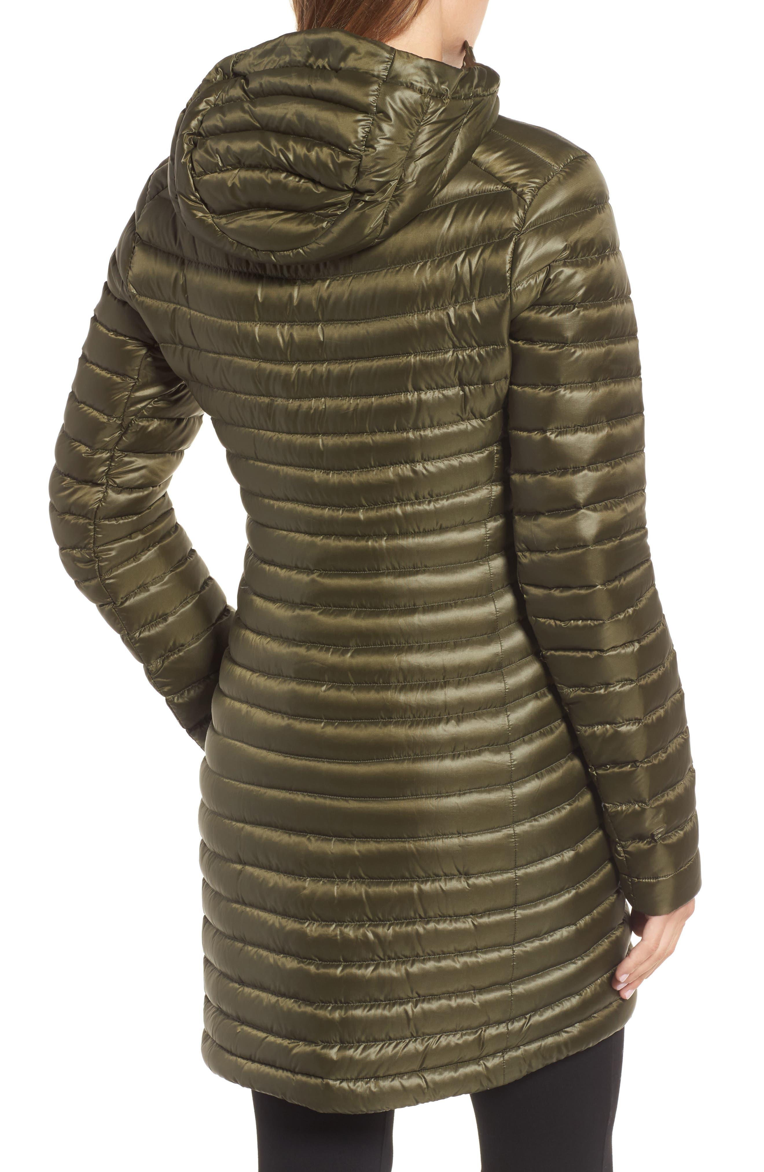 'Nuri' Hooded Water Resistant Down Coat,                             Alternate thumbnail 2, color,                             Banyen