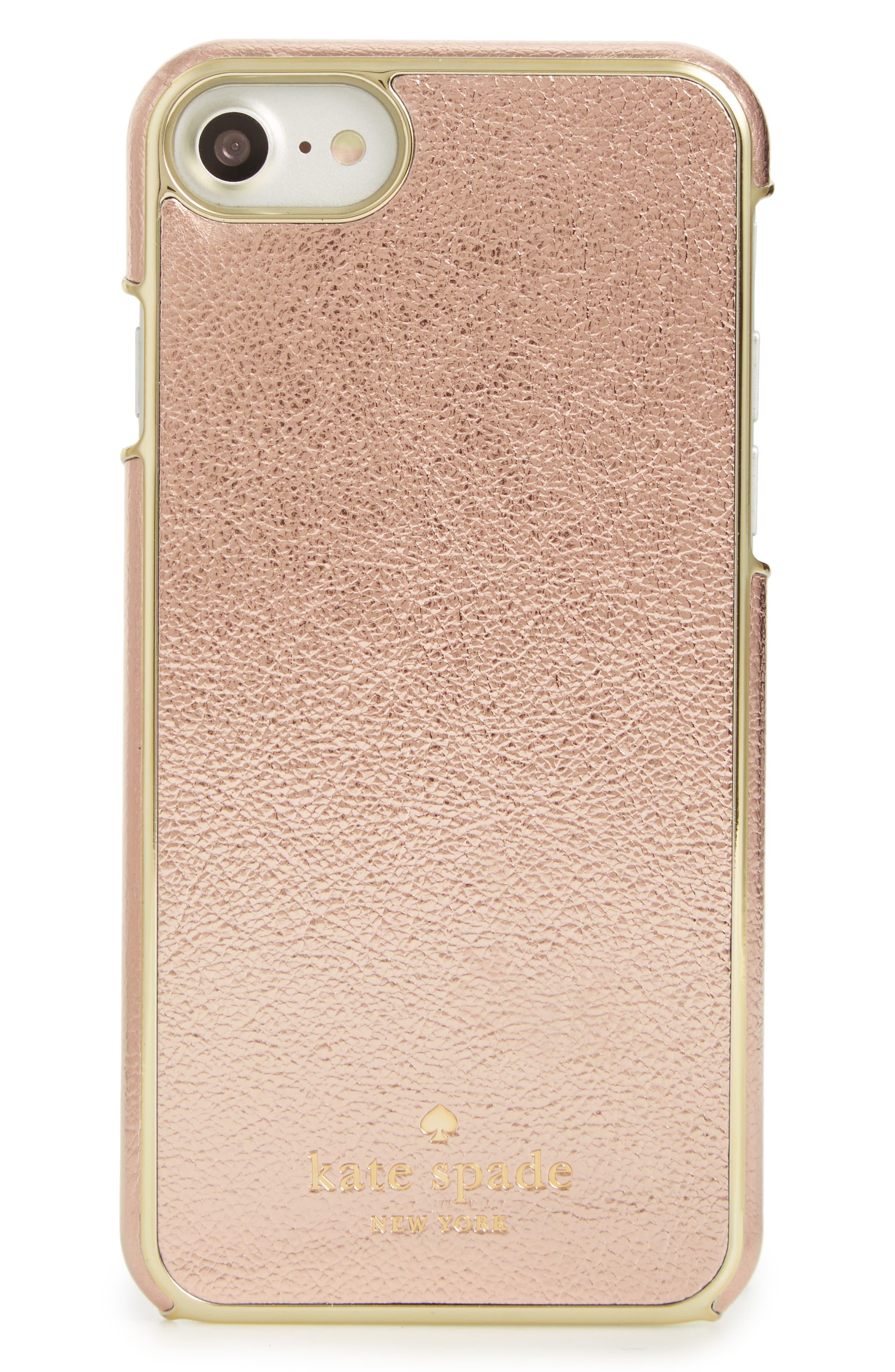Alternate Image 1 Selected - kate spade new york metallic iPhone 7/8 case