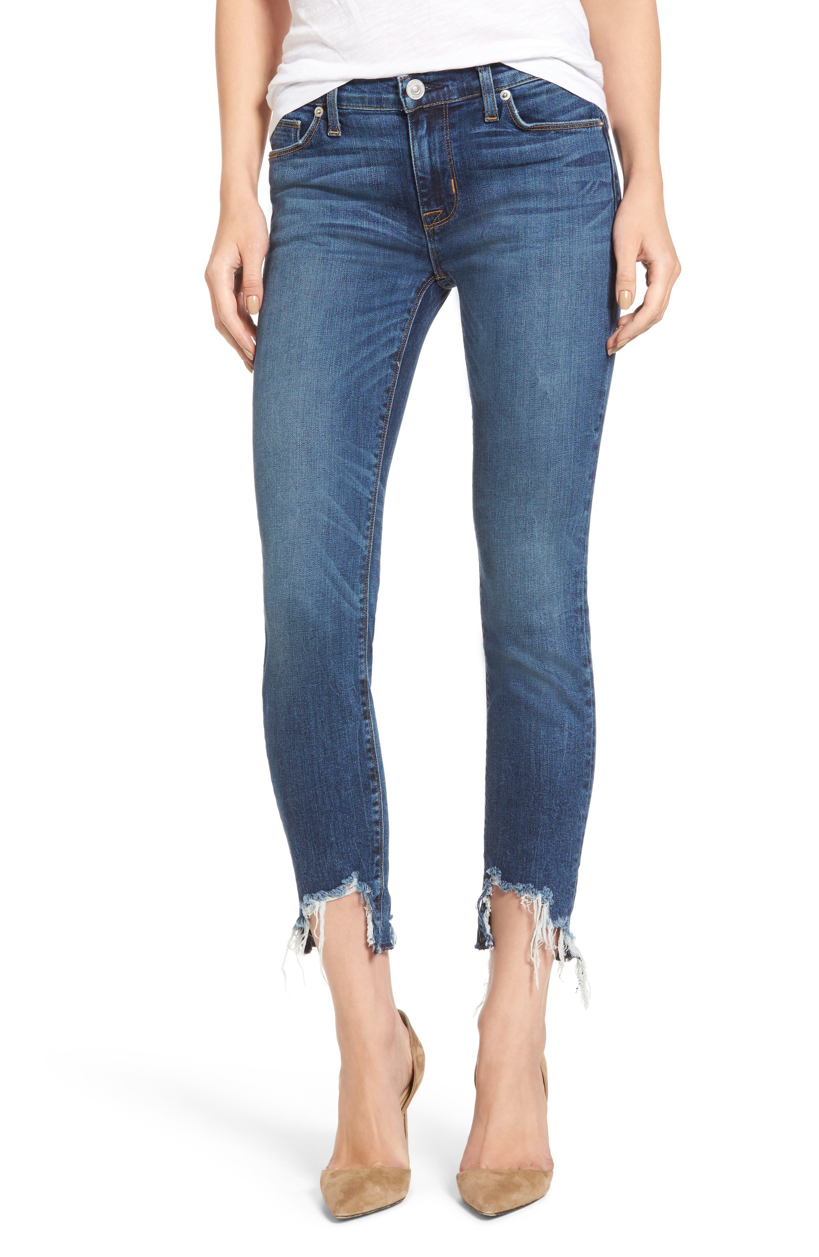 Tally Unfamed Hem Skinny Jeans,                         Main,                         color, Split Second