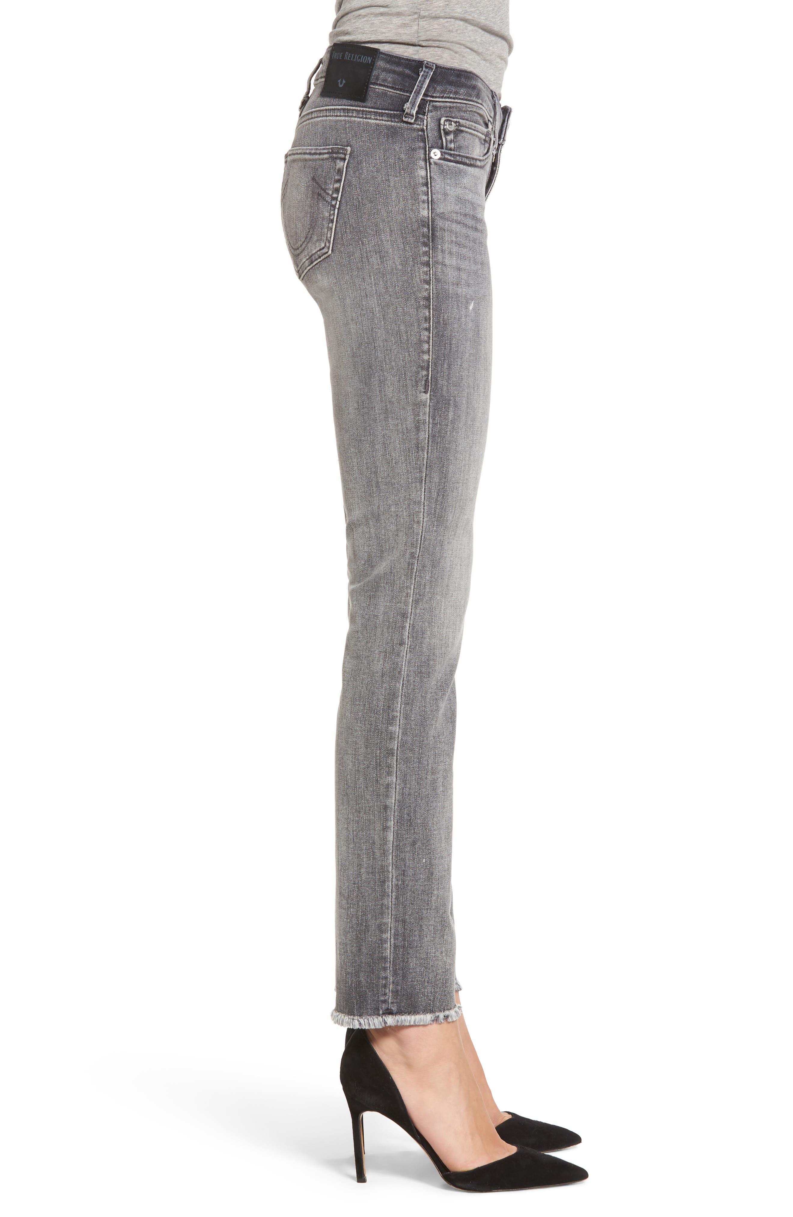 Alternate Image 3  - True Religion Brand Jeans Sara Crop Cigarette Jeans (Eternal Grey)
