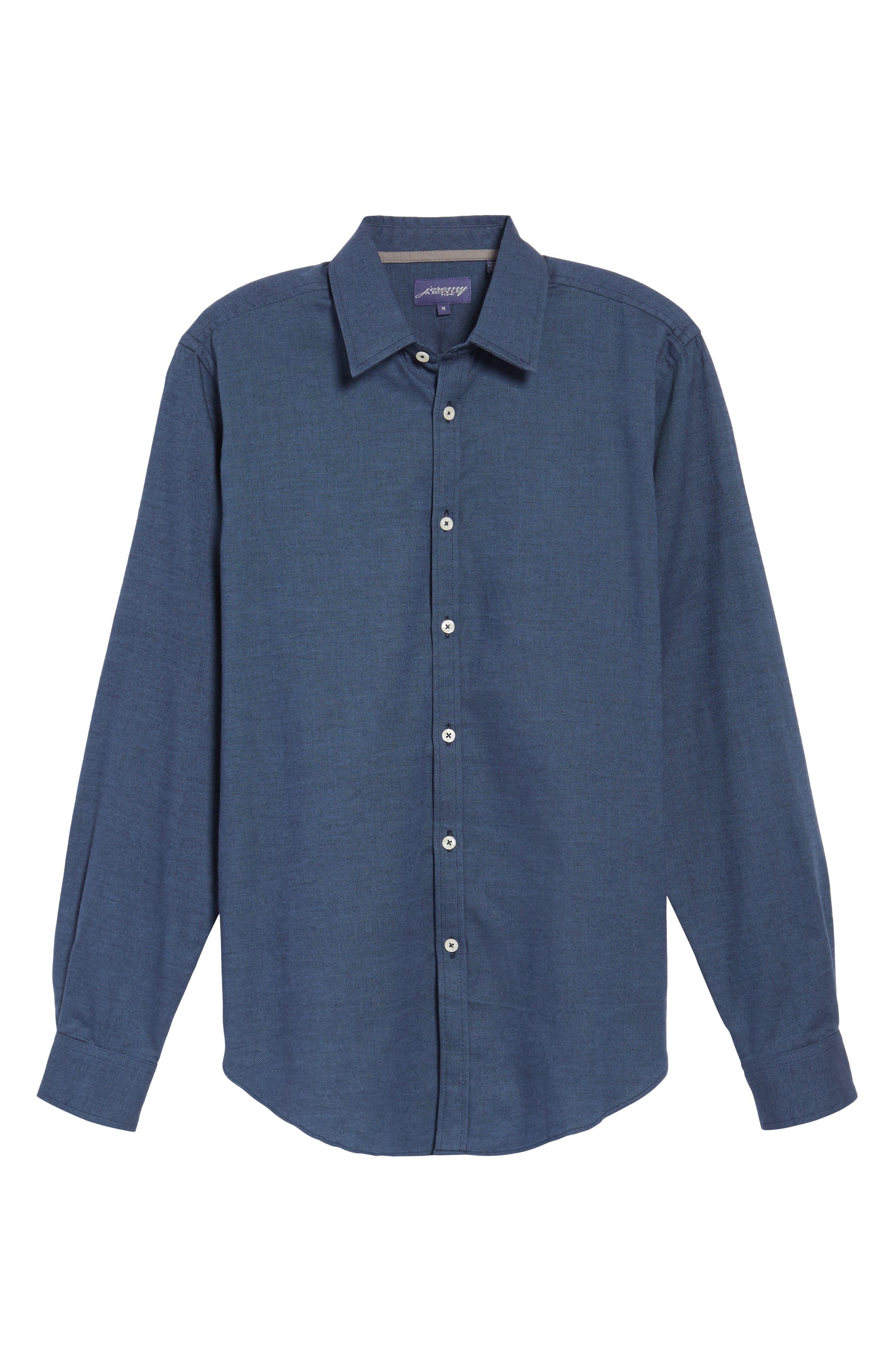 Alternate Image 6  - Jeremy Argyle Slim Fit Solid Sport Shirt